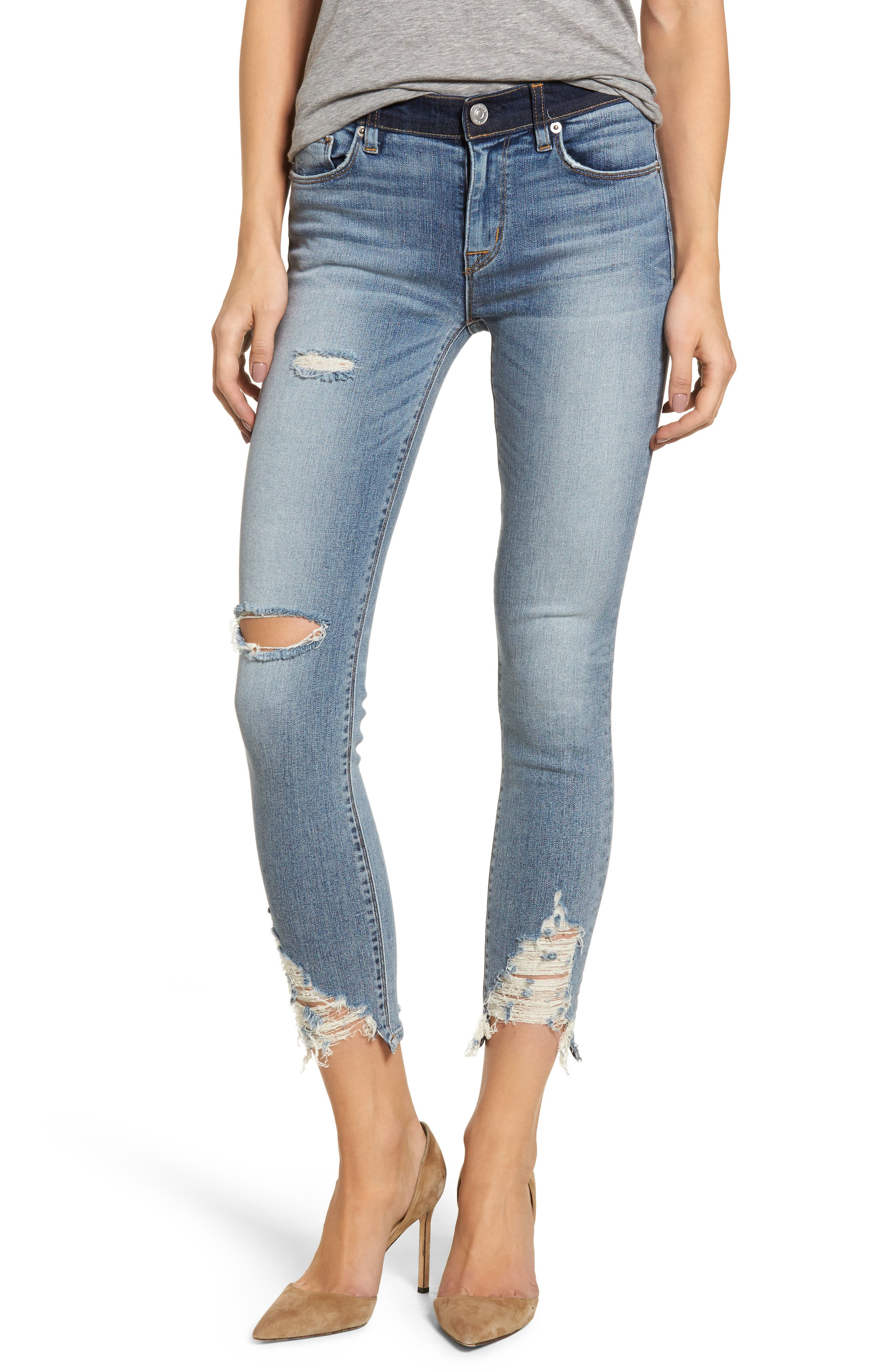 Hudson Nico Ankle Skinny Jeans,                             Main thumbnail 1, color,                             GAME CHANGER