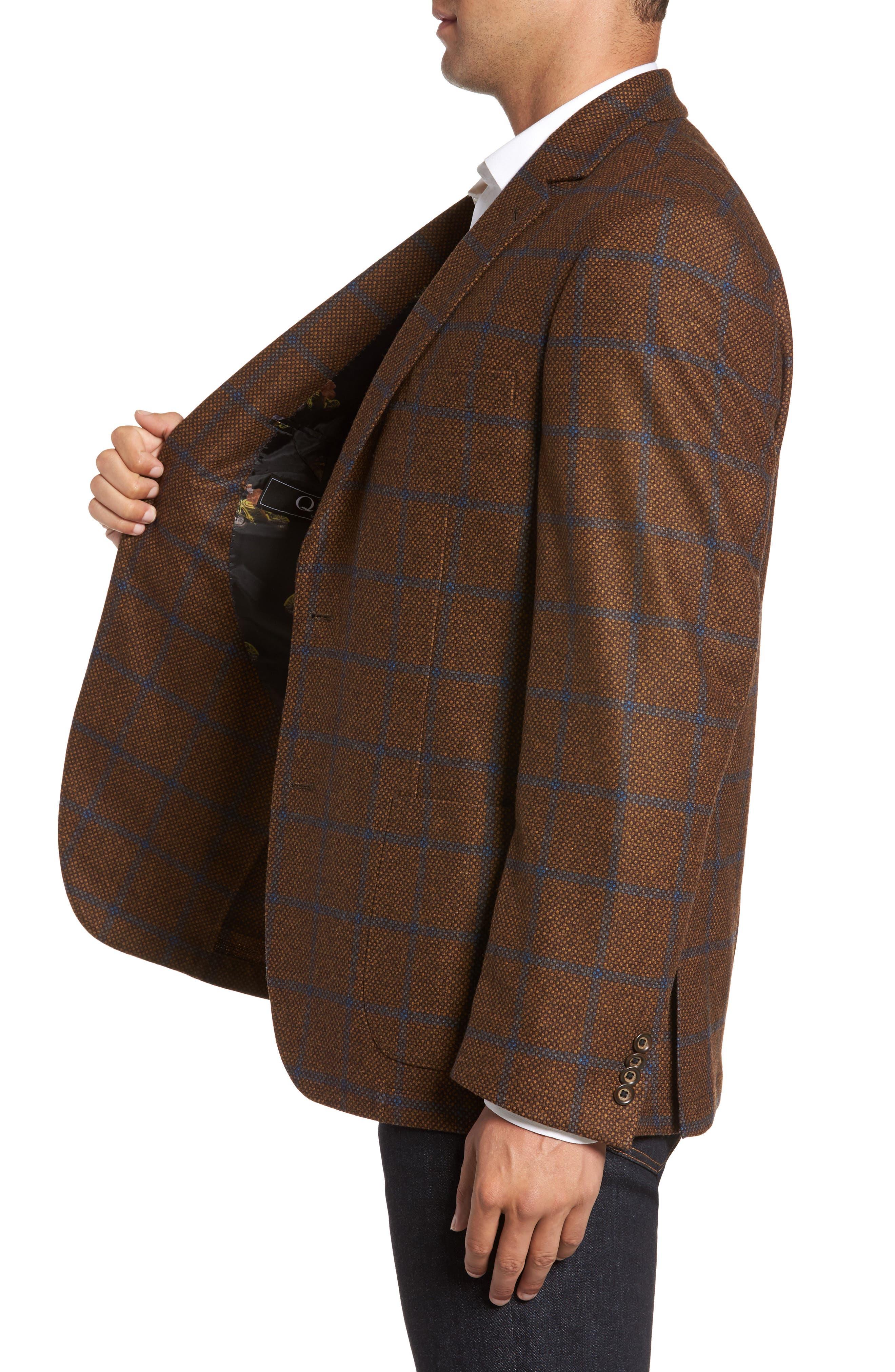 Classic Fit Windowpane Wool Sport Coat,                             Alternate thumbnail 3, color,                             220