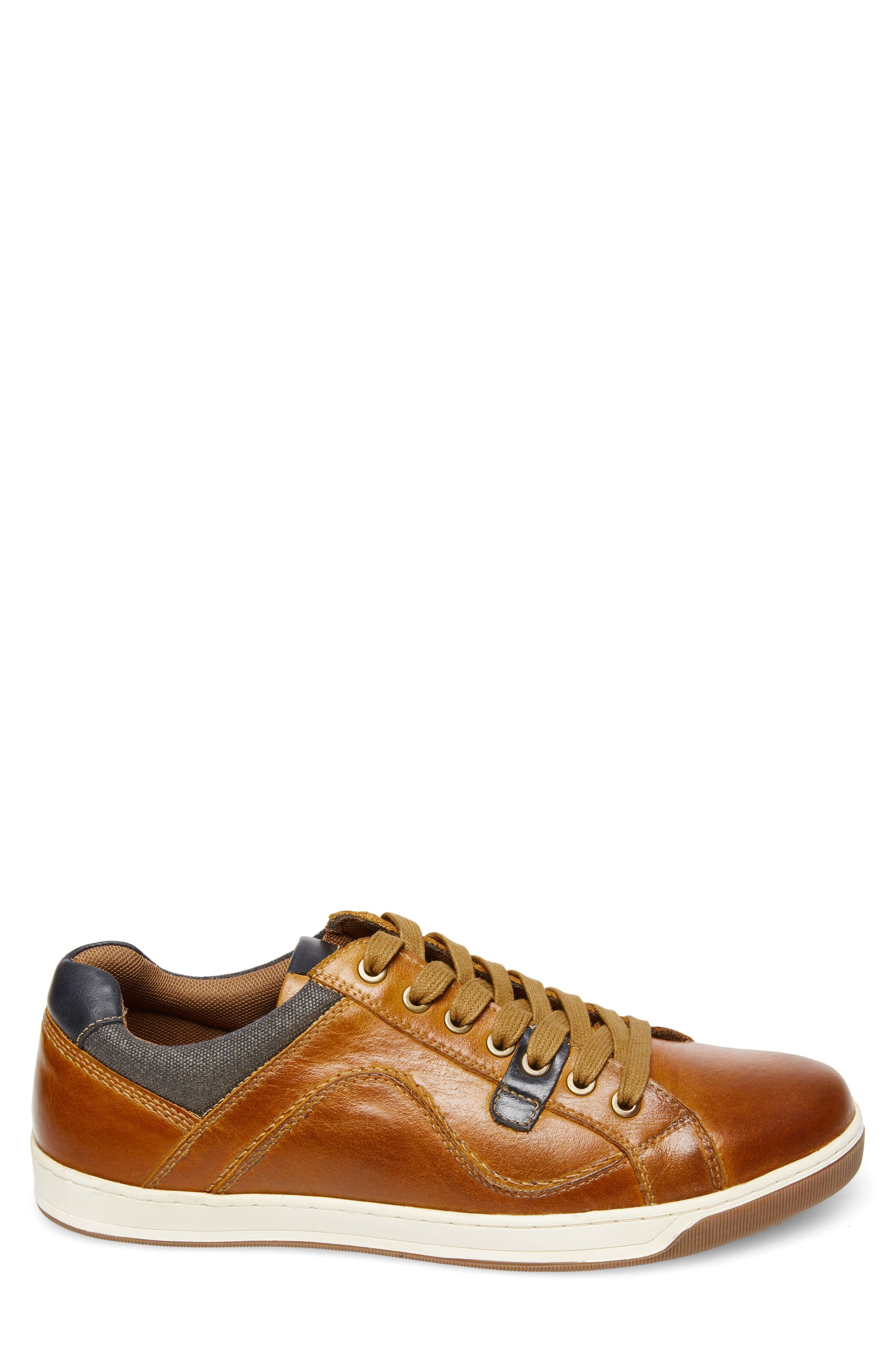 Chater Low Top Sneaker,                             Alternate thumbnail 3, color,                             RUST LEATHER