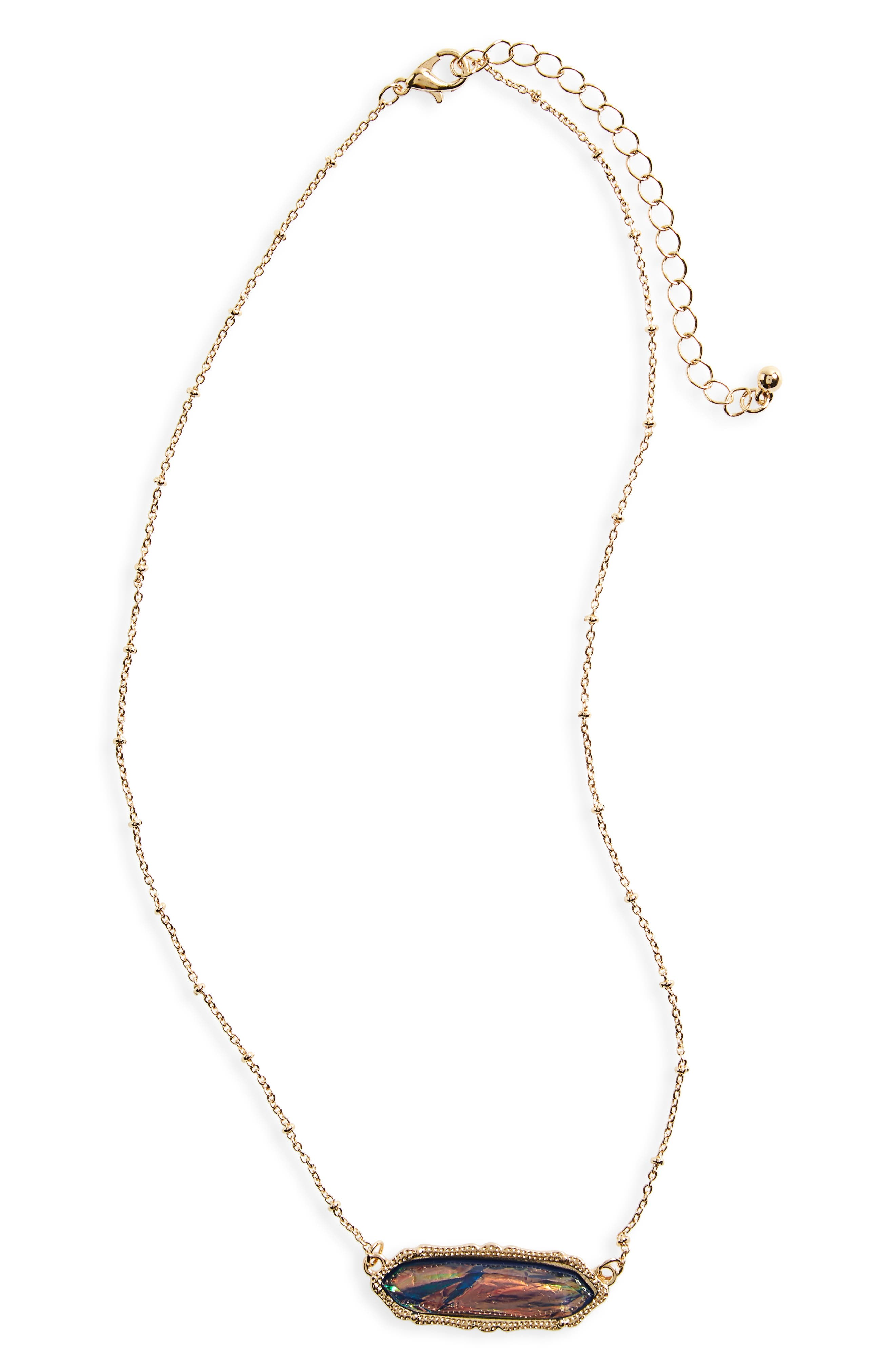 Stone Charm Necklace,                         Main,                         color, 710