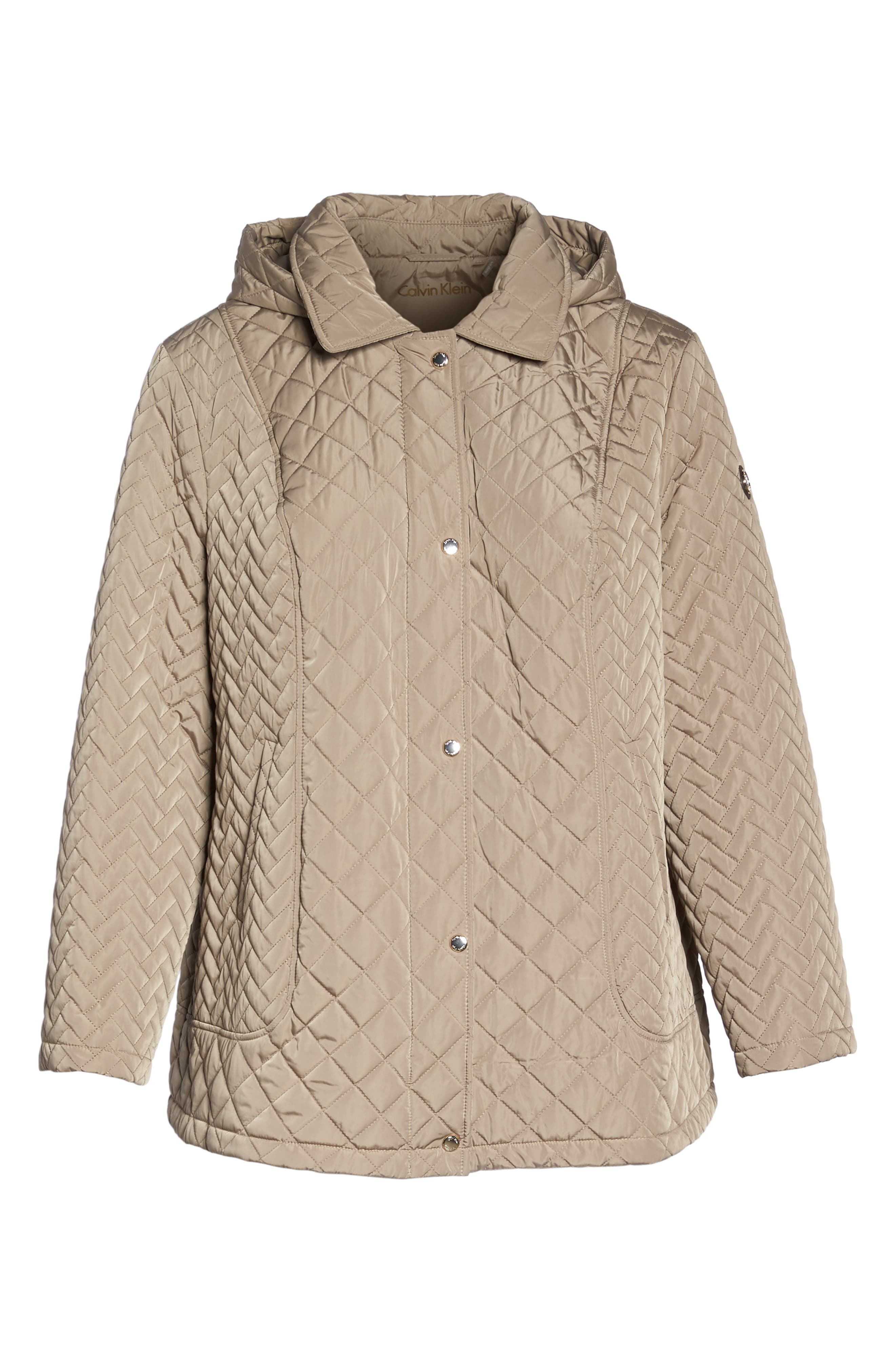 Water Resistant Diamond Quilted Jacket,                             Alternate thumbnail 5, color,                             021