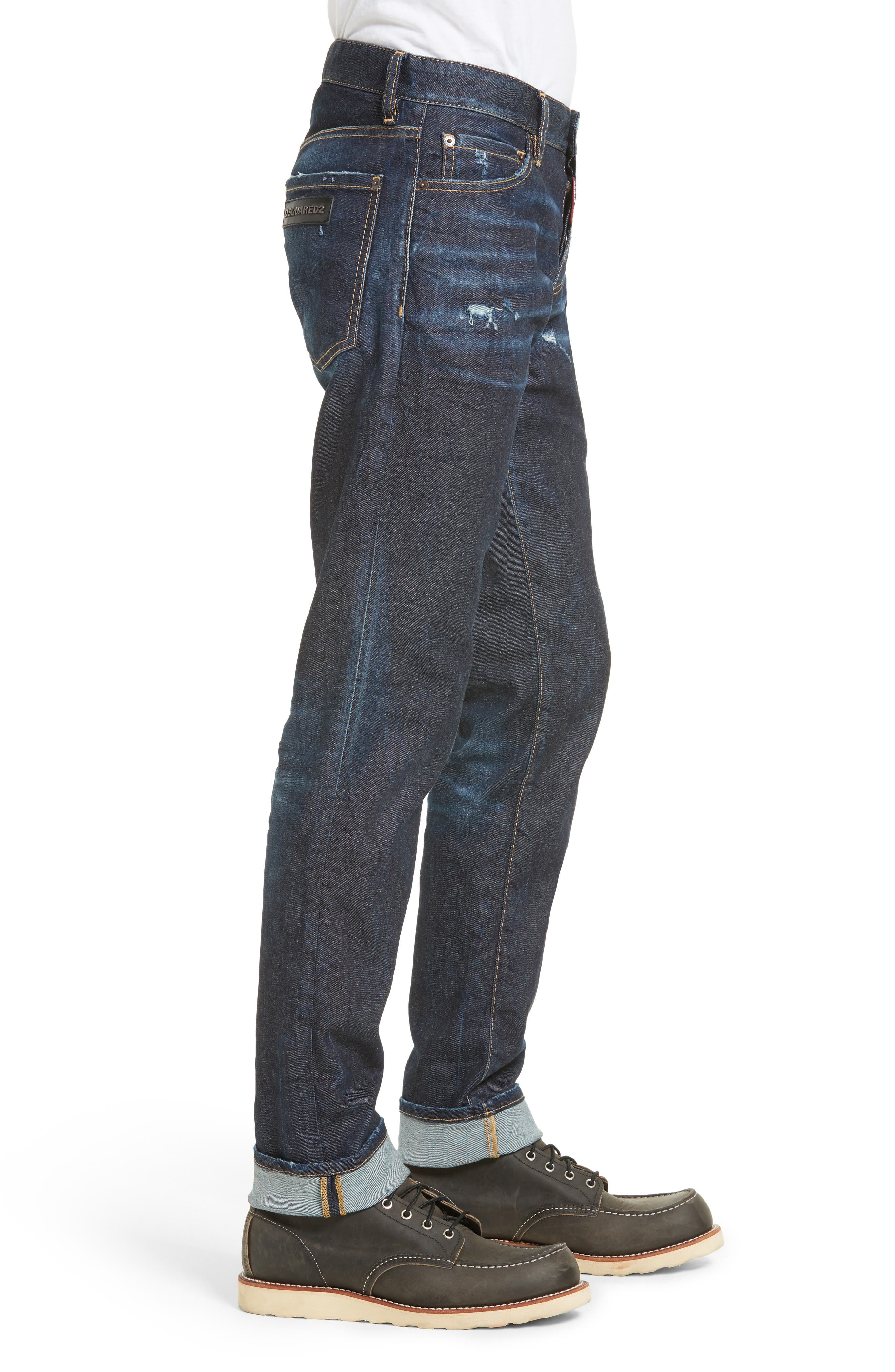 Slim Nothing Jeans,                             Alternate thumbnail 3, color,                             BLUE