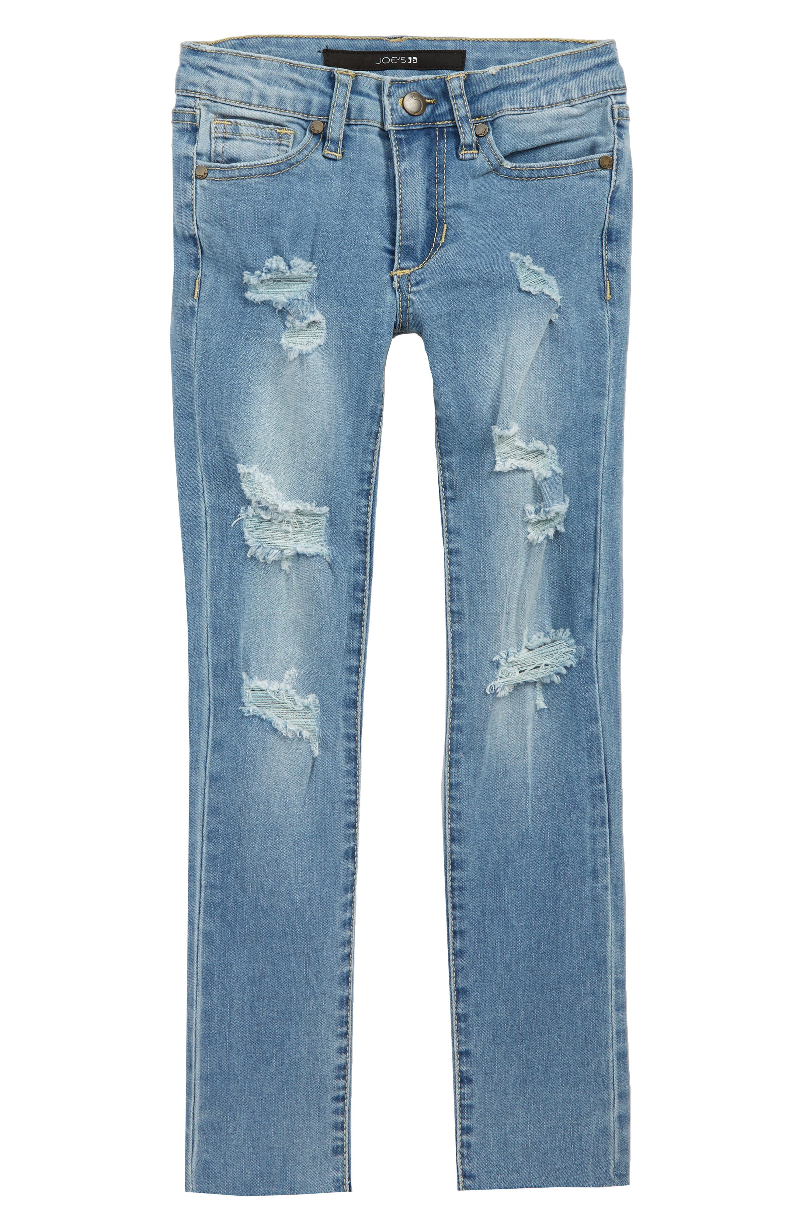 The Smith Ripped Straight Leg Stretch Jeans, Main, color, 400