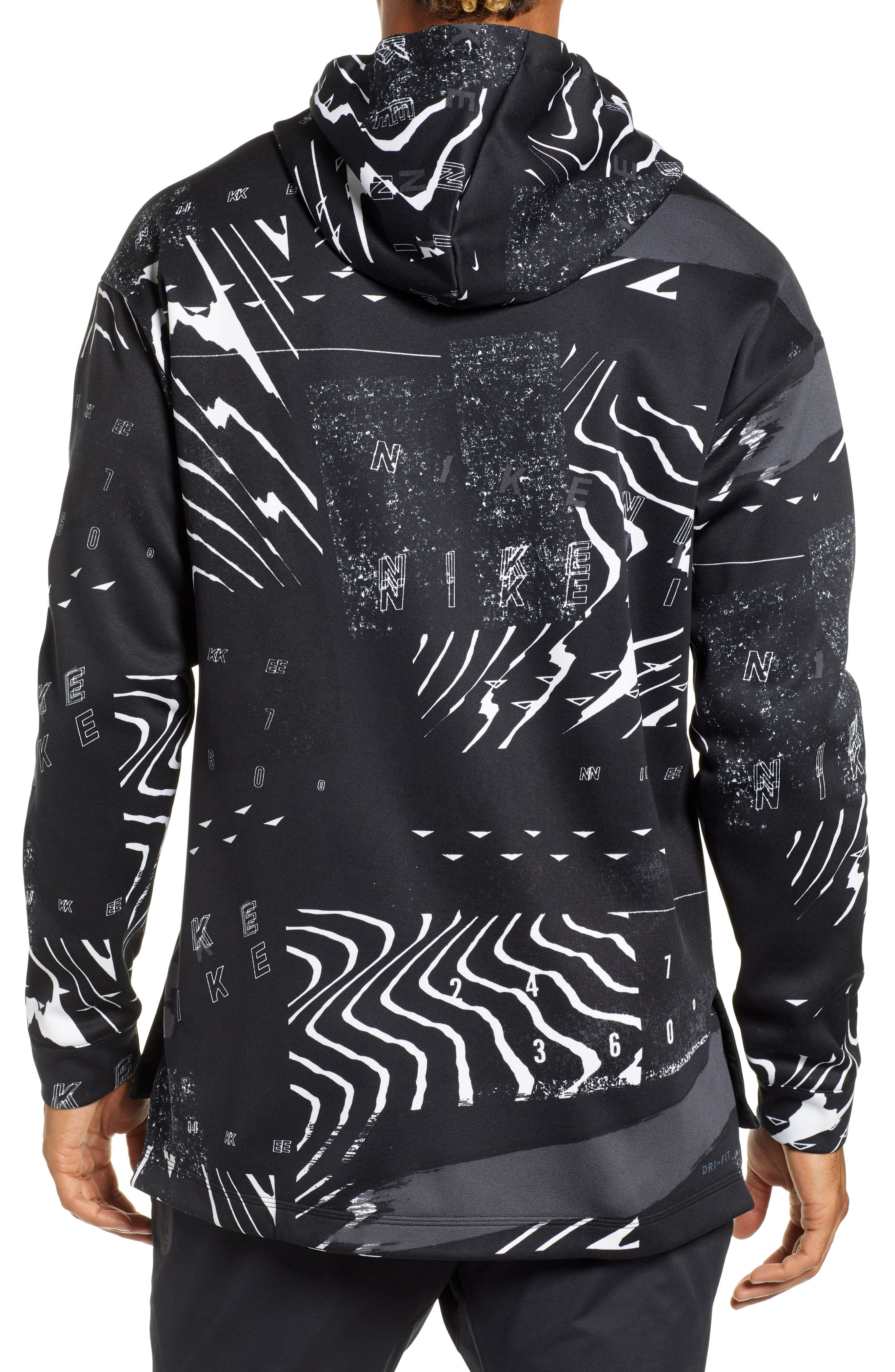 3.0 Therma-FIT Hoodie,                             Alternate thumbnail 2, color,                             BLACK/ WHITE/ PINK FOAM