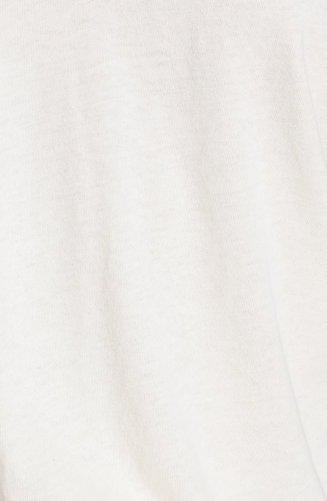 U-Neck Cotton Tee,                             Alternate thumbnail 2, color,                             WASHED WHITE