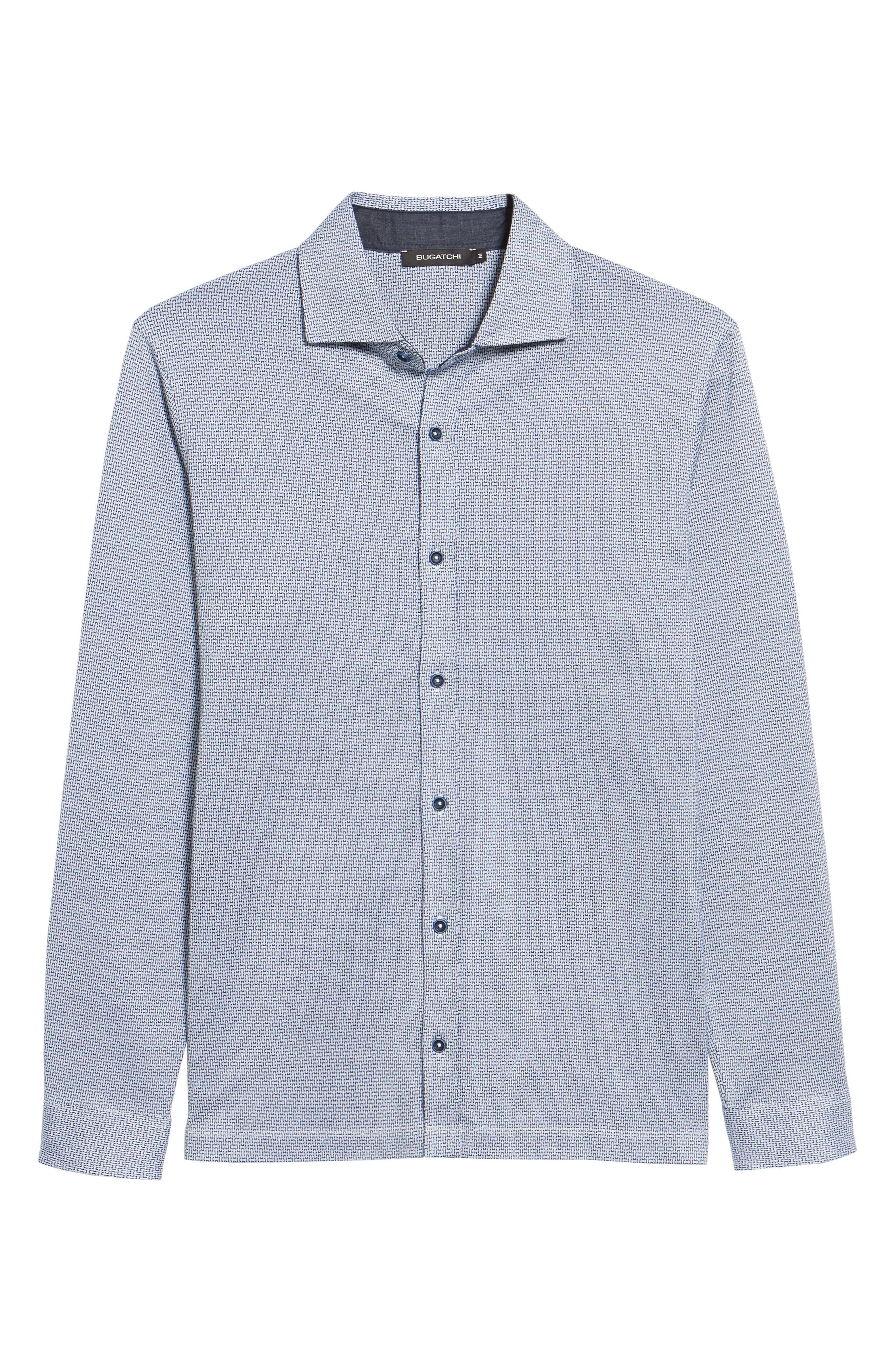 Print Knit Sport Shirt,                             Alternate thumbnail 6, color,                             030