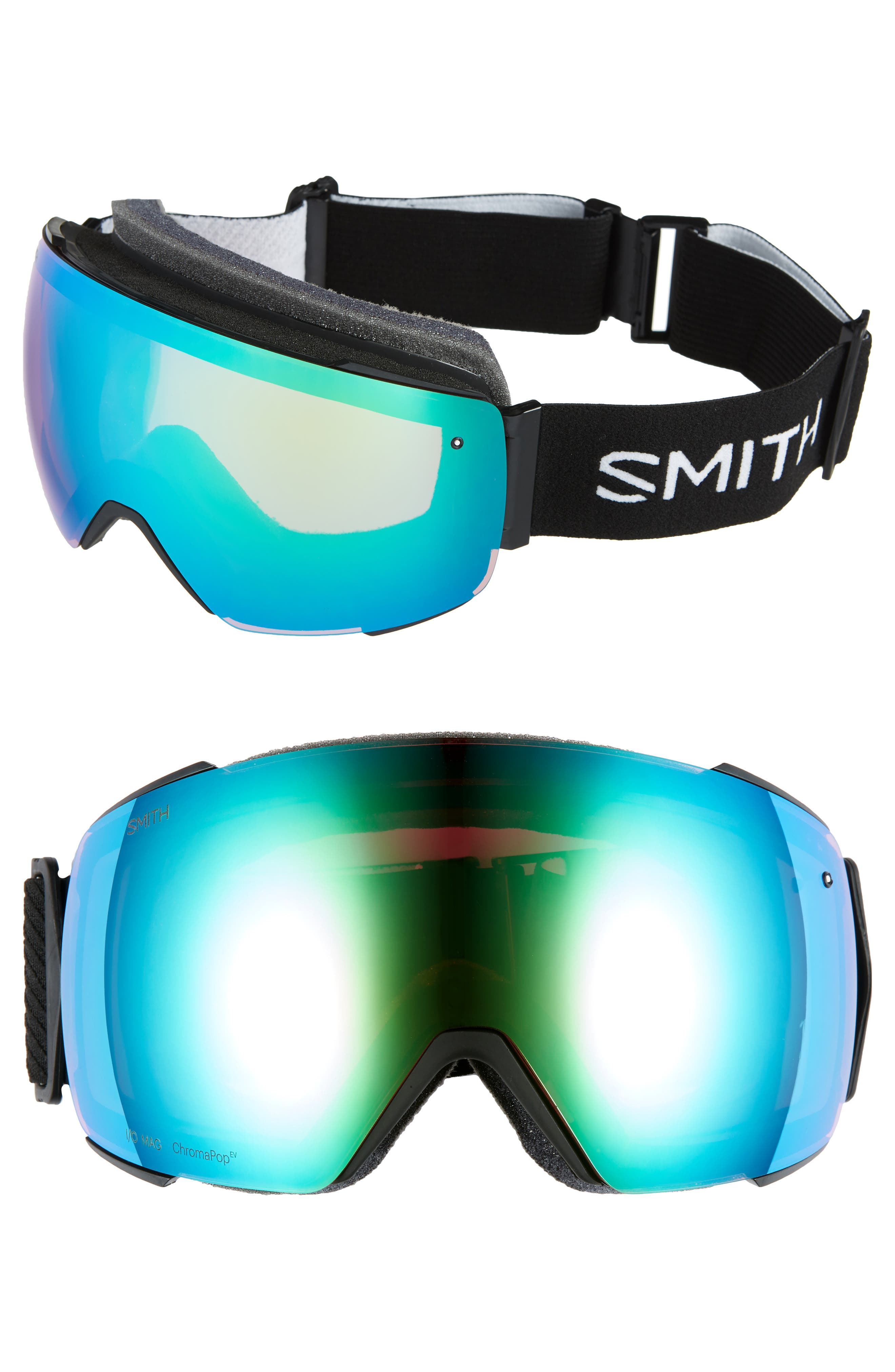 I/O Mag 215mm ChromaPop Snow Goggles,                             Main thumbnail 1, color,                             BLACK