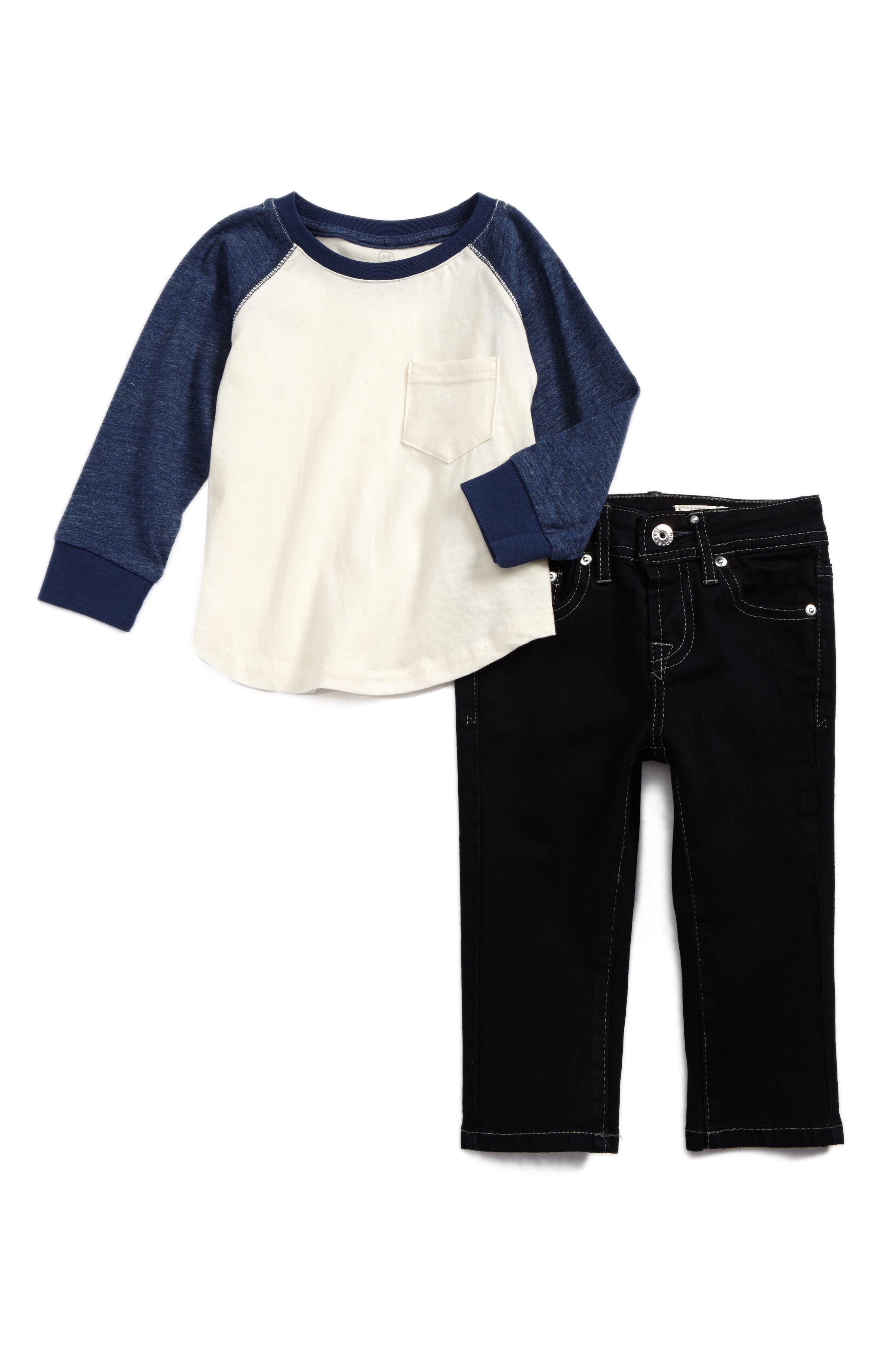 T-Shirt & Jeans Set,                             Main thumbnail 1, color,                             465