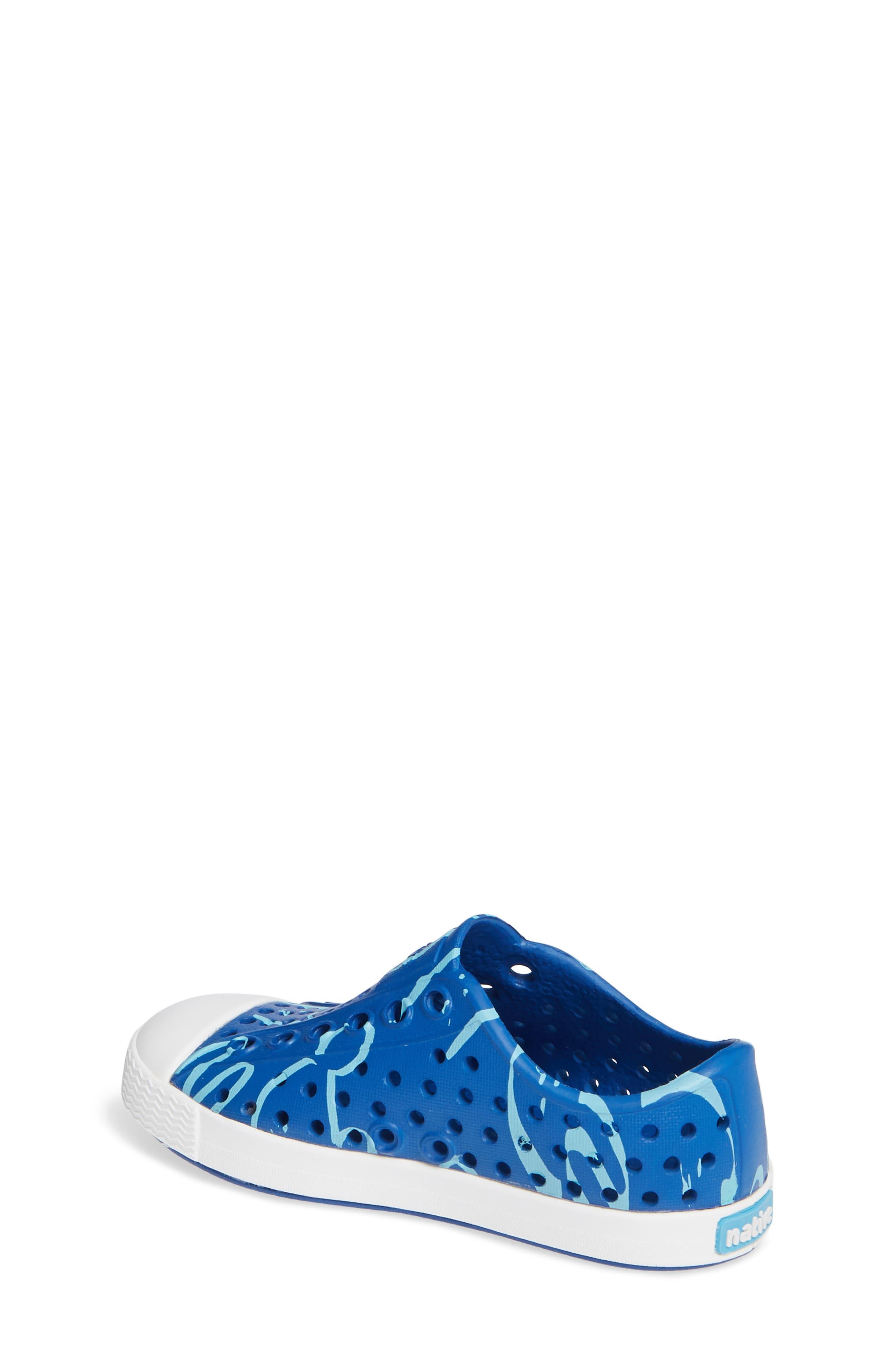 Jefferson Water Friendly Slip-On Shoe,                             Alternate thumbnail 2, color,                             VICTORIA BLUE/ WHITE ANIMALIA