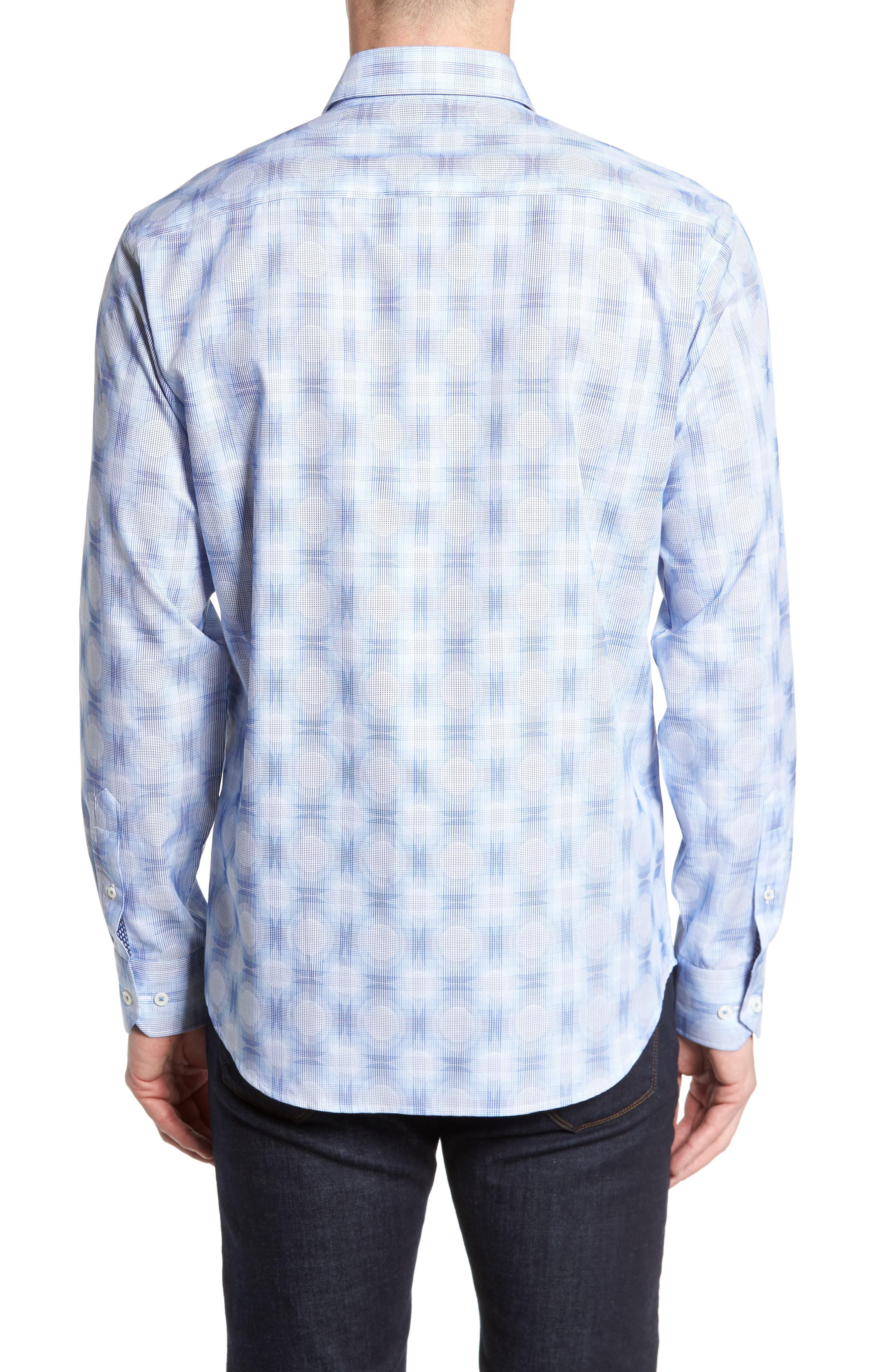 Classic Fit Plaid Sport Shirt,                             Alternate thumbnail 2, color,                             422