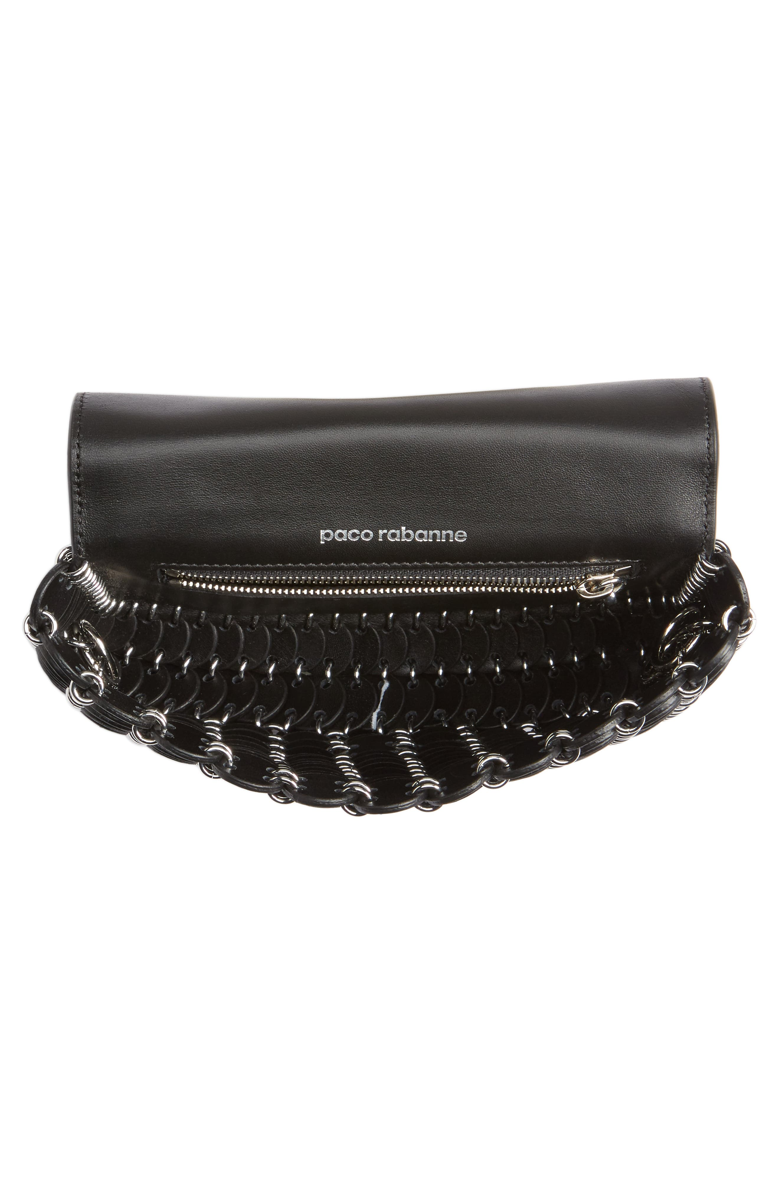 Mini Calfskin Shoulder Bag,                             Alternate thumbnail 5, color,                             BLACK