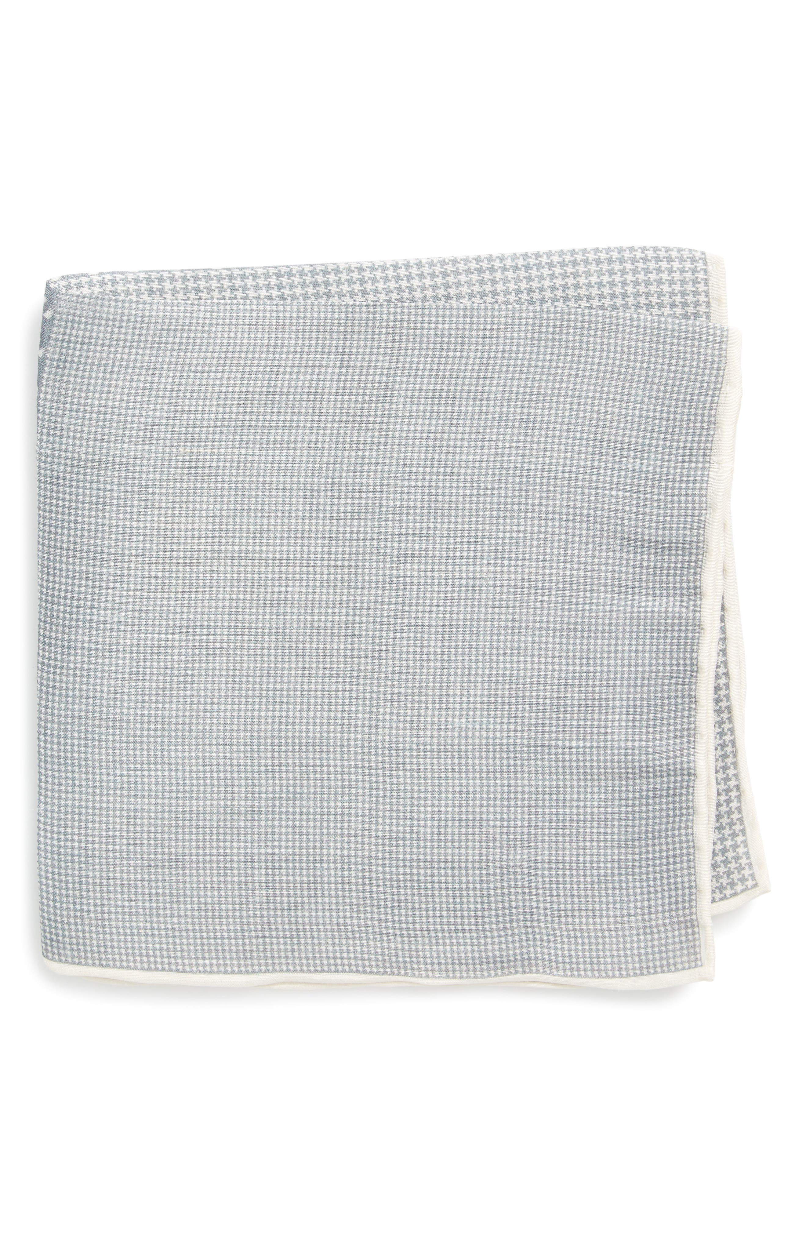 Houndstooth Pocket Square,                             Main thumbnail 1, color,                             039