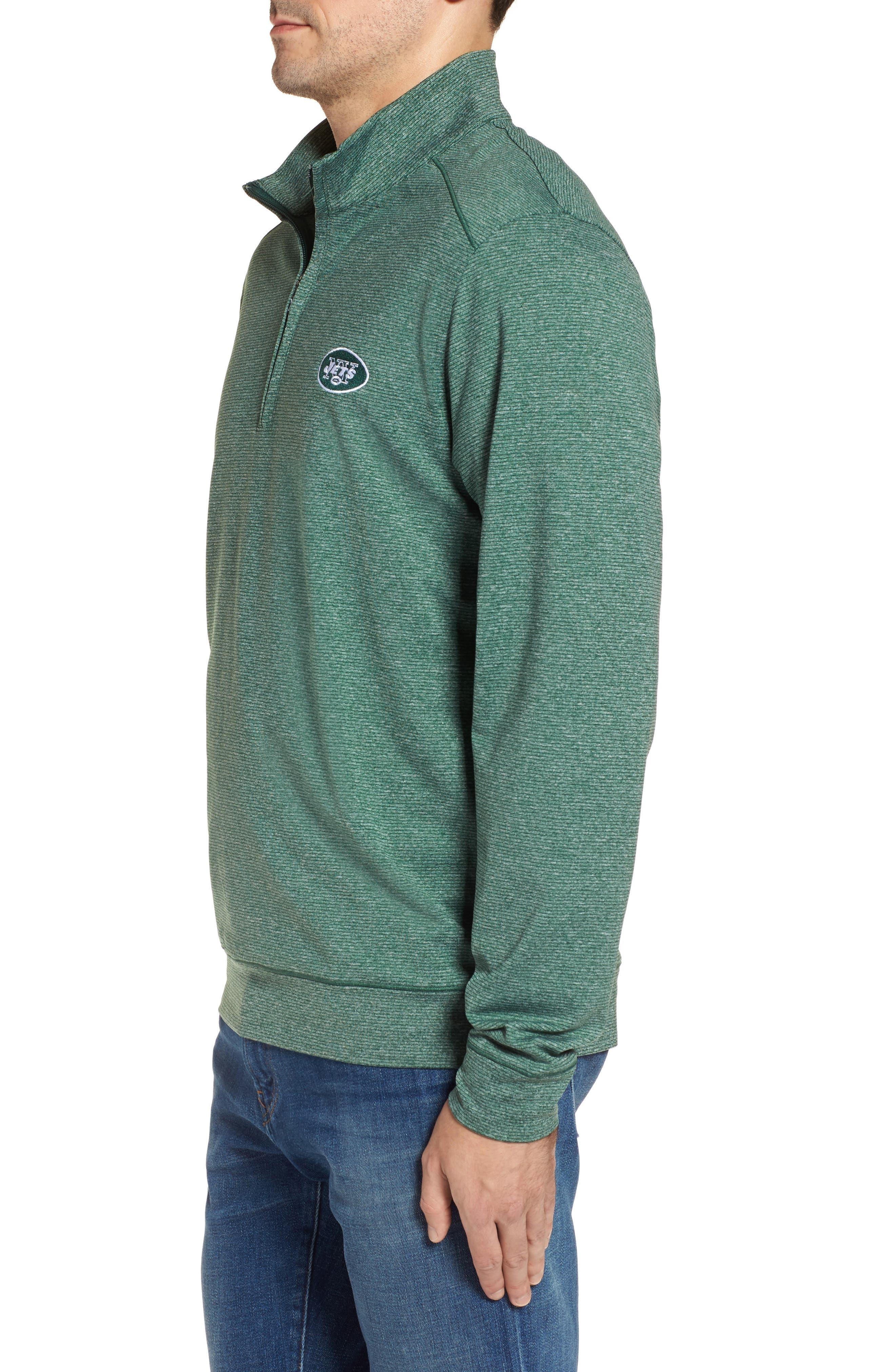 Shoreline - New York Jets Half Zip Pullover,                             Alternate thumbnail 3, color,                             308