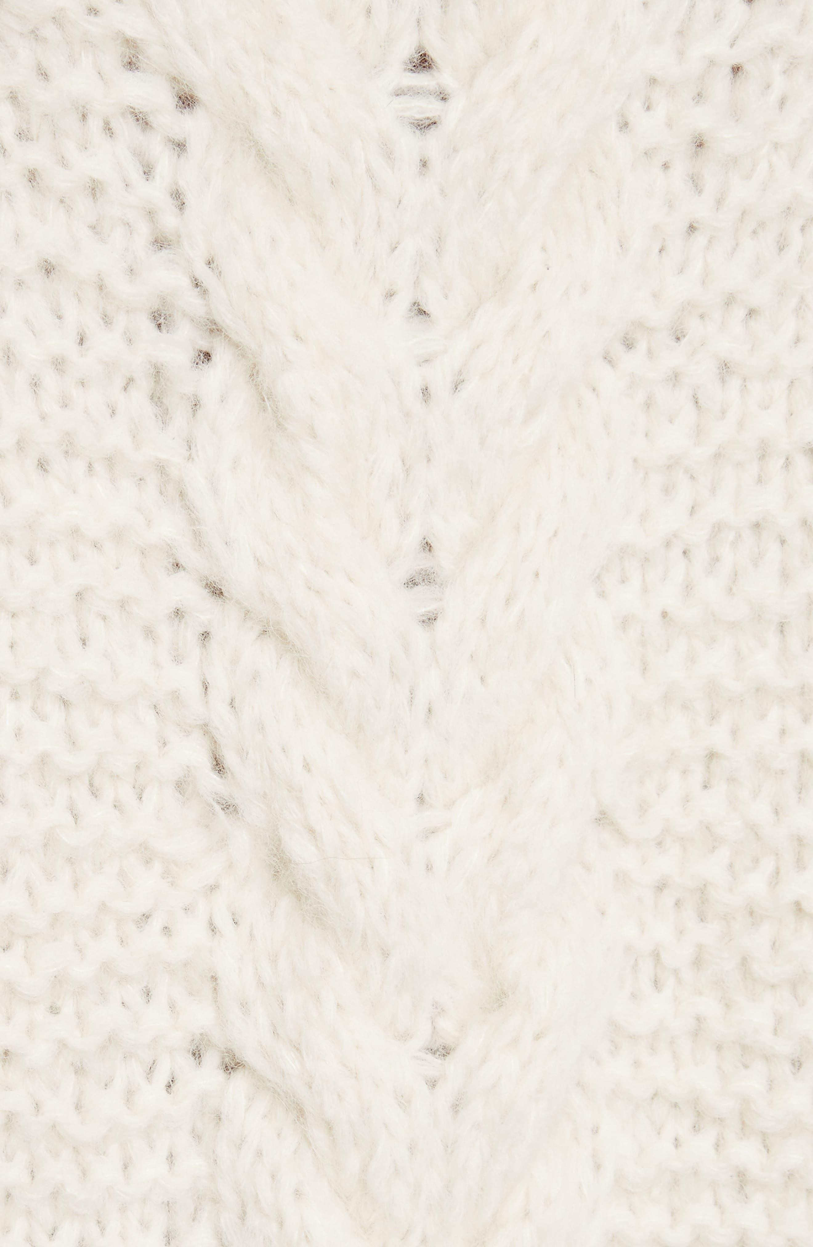 Cable Knit Pullover,                             Alternate thumbnail 5, color,                             902