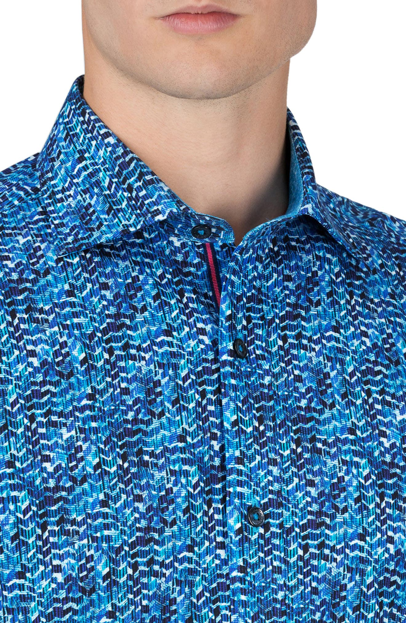 Shaped Fit Sport Shirt,                             Alternate thumbnail 3, color,