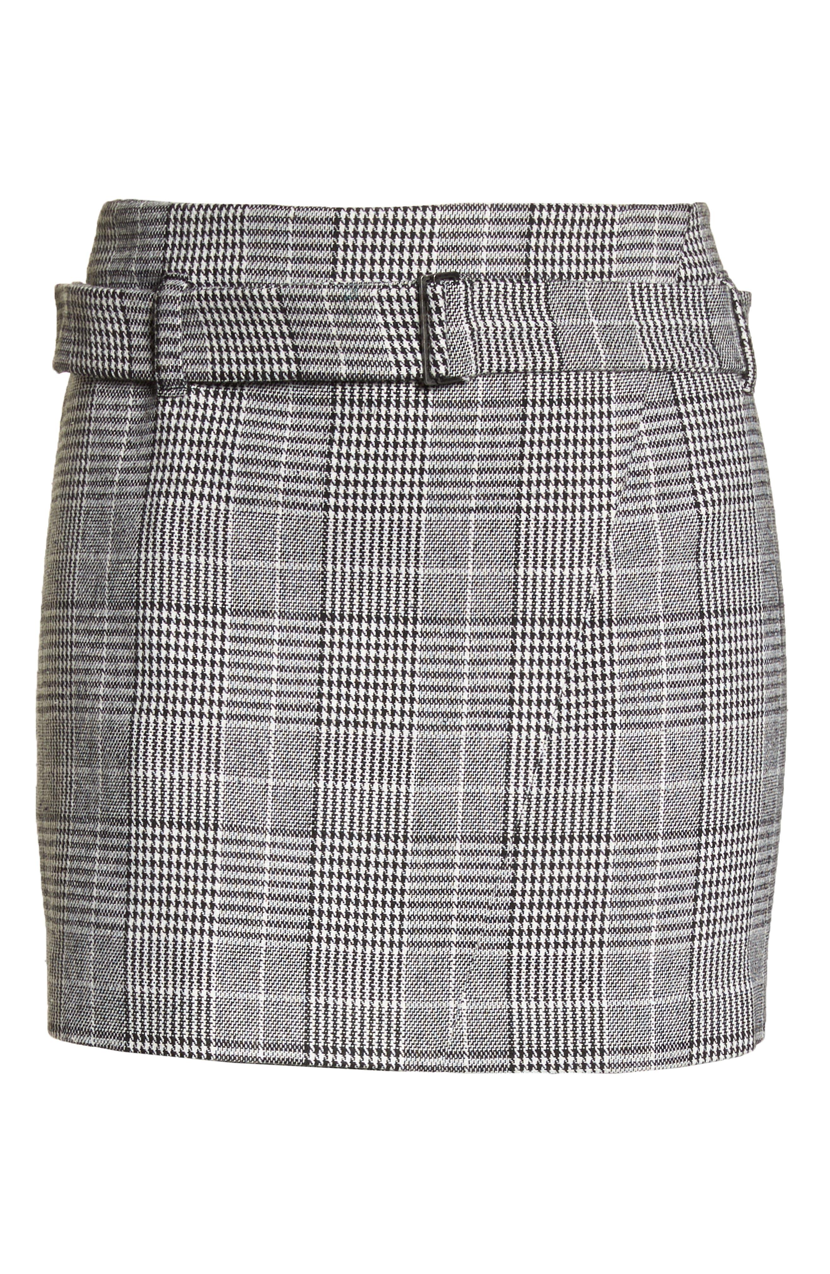 Plaid Miniskirt,                             Alternate thumbnail 11, color,                             BLACK SHAROL PLAID