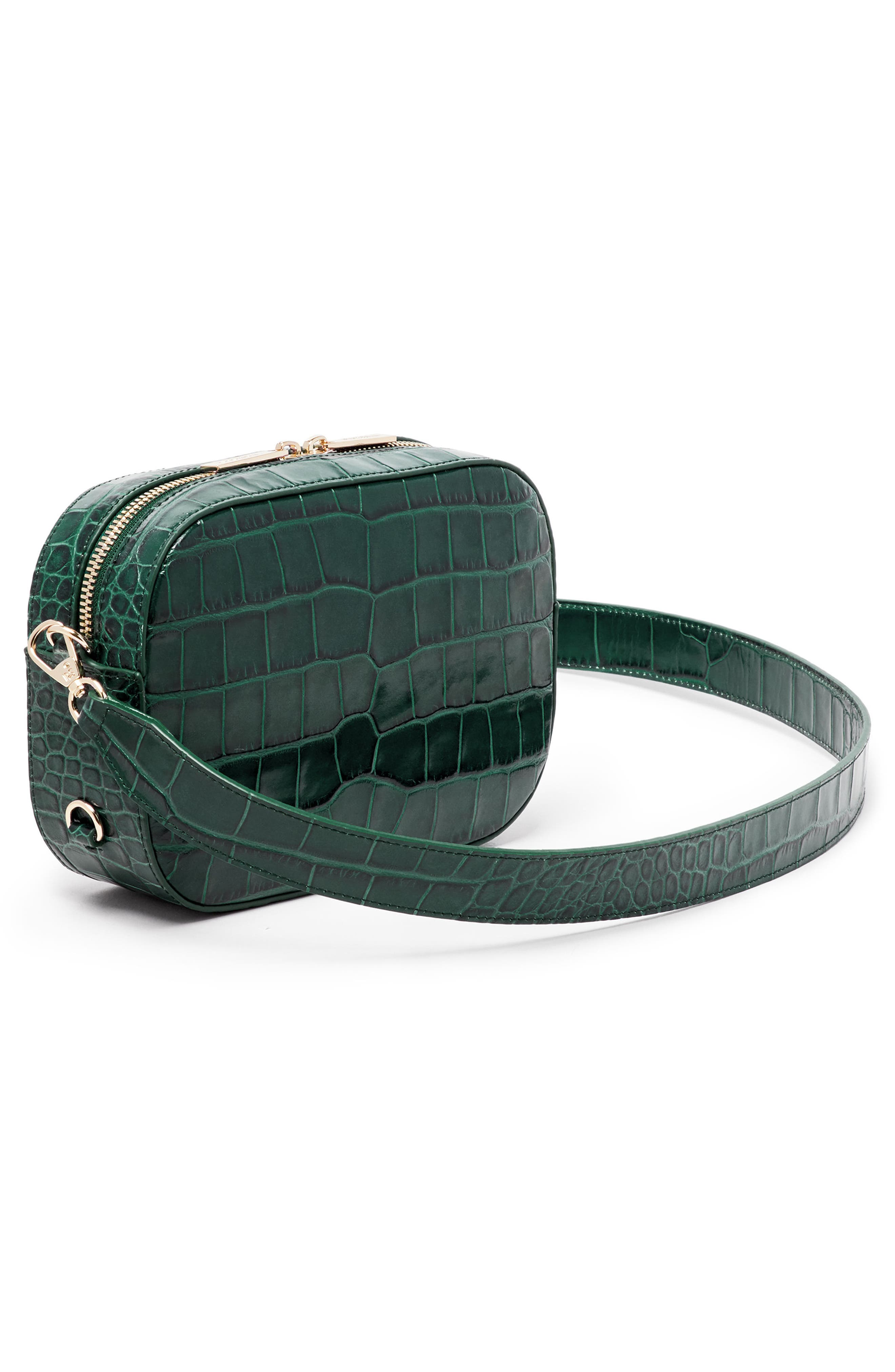 Croc Embossed Bigger Leather Camera Bag,                             Alternate thumbnail 2, color,                             300