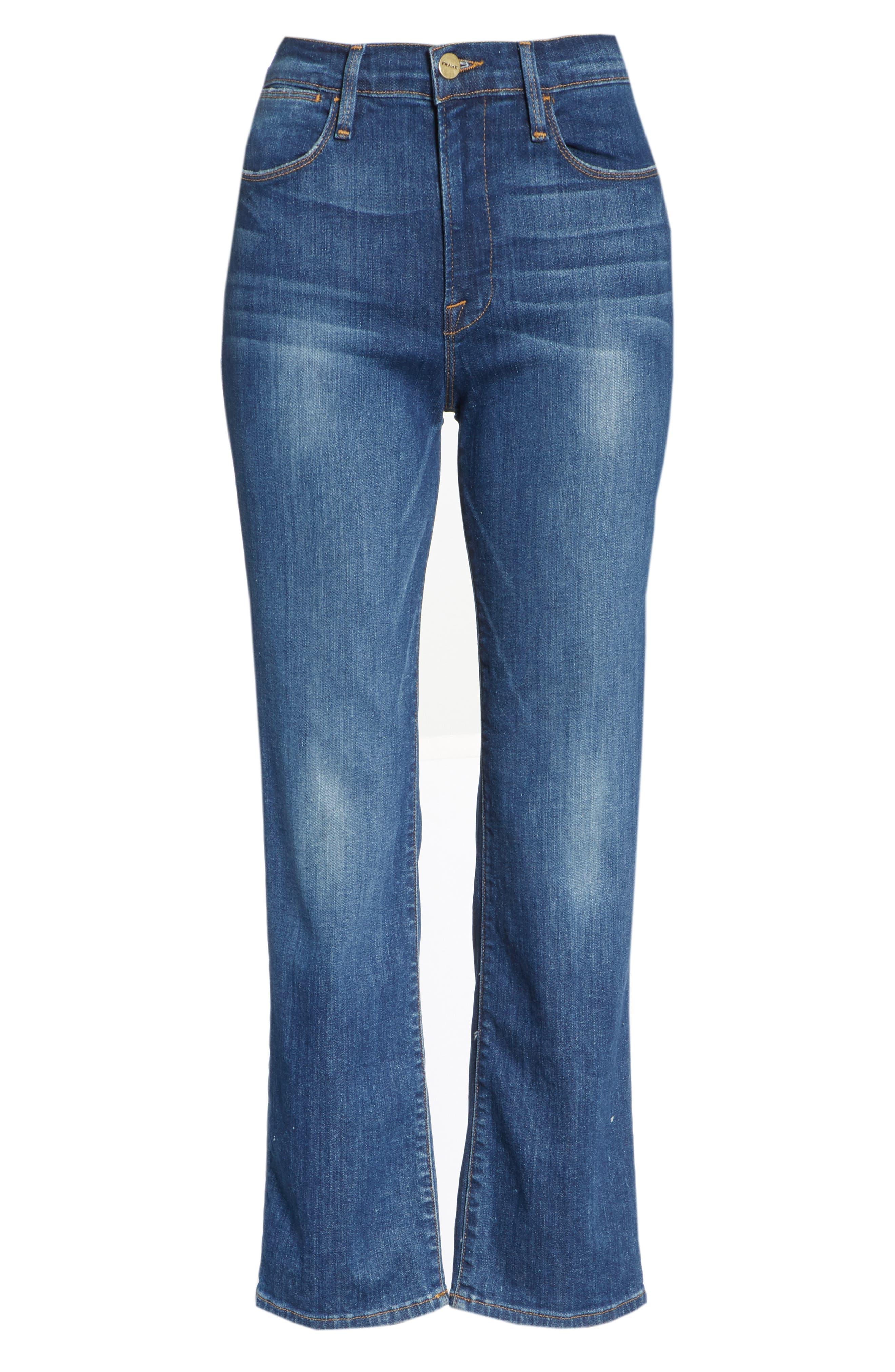 Le High Straight Leg Jeans,                             Alternate thumbnail 6, color,                             YORK