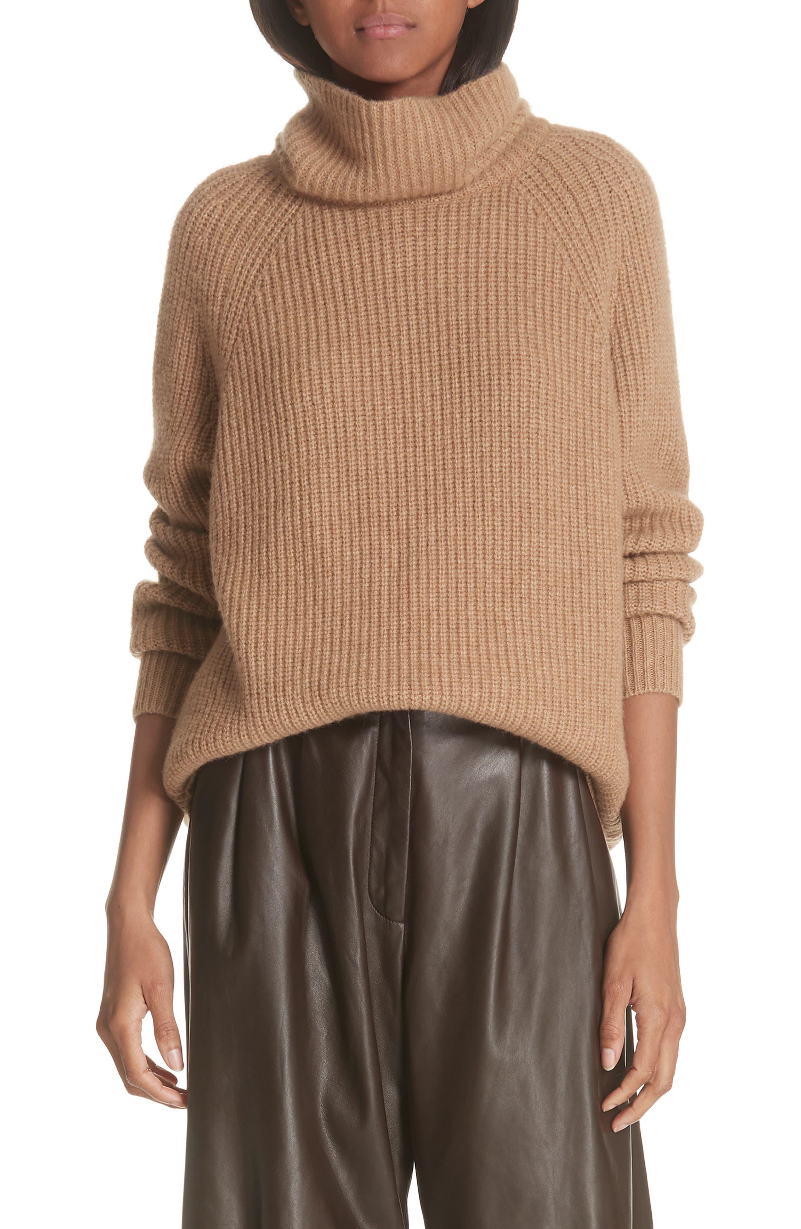 NILI LOTAN Anitra Rib Knit Turtleneck Sweater, Main, color, 261