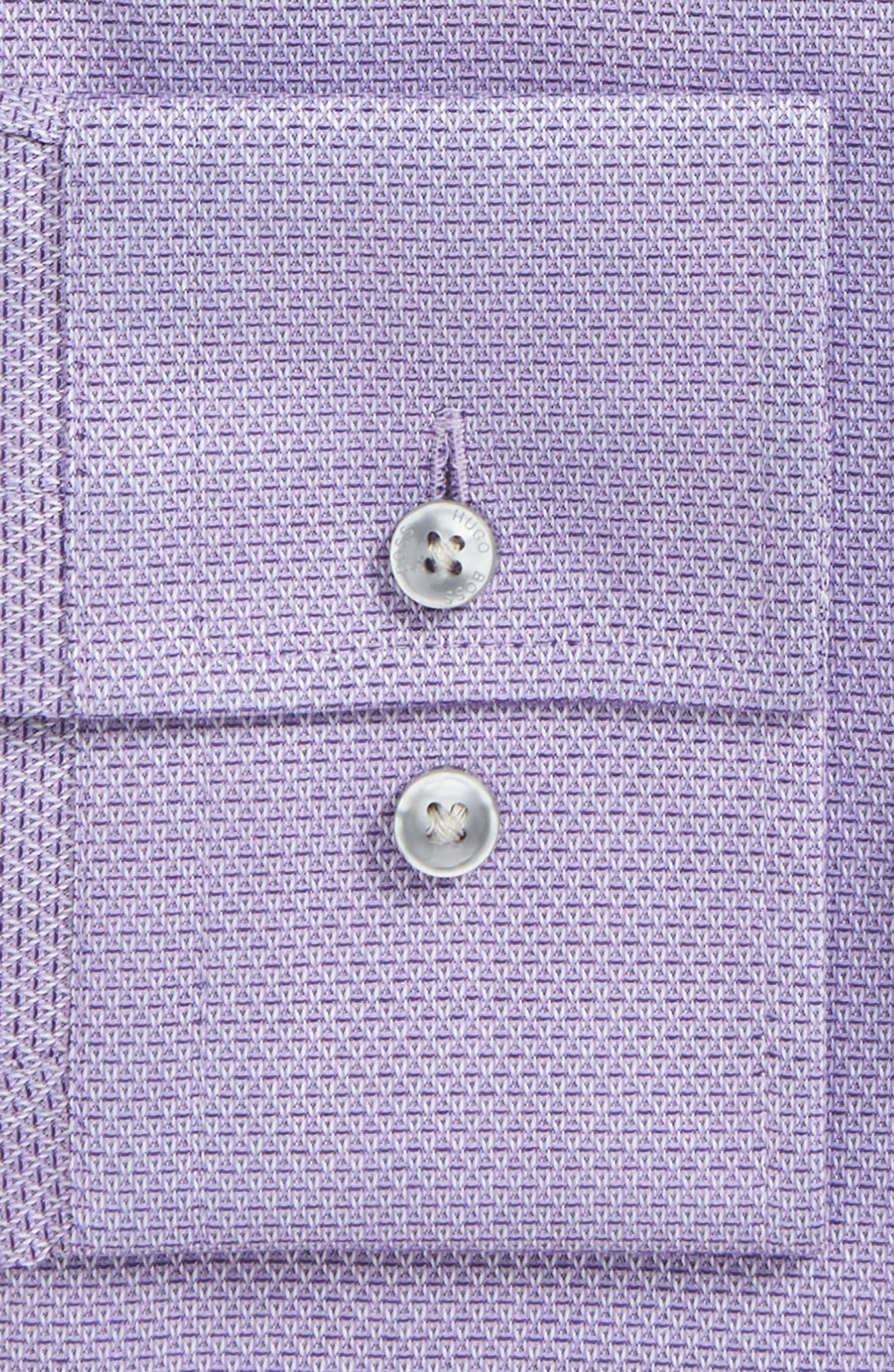 Jenno Slim Fit Textured Dress Shirt,                             Alternate thumbnail 4, color,
