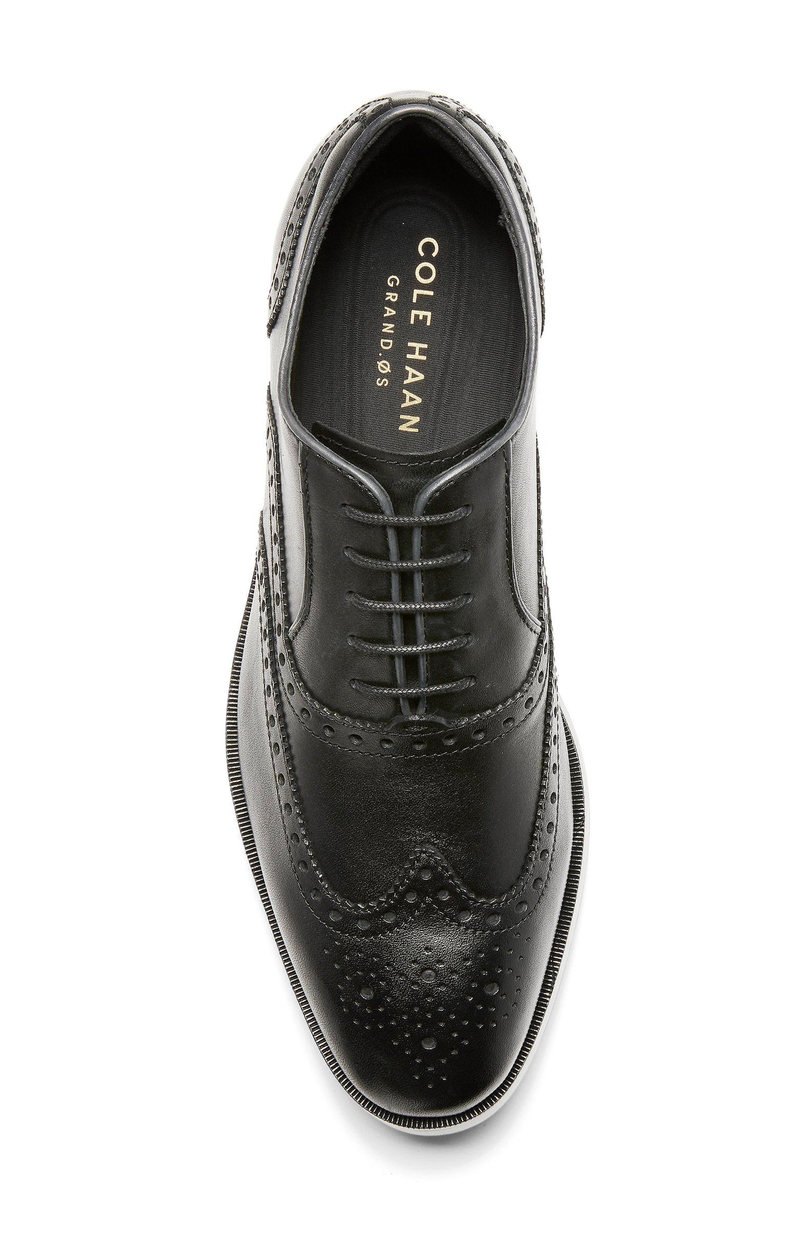 Hamilton Wingtip,                             Alternate thumbnail 4, color,                             BLACK LEATHER
