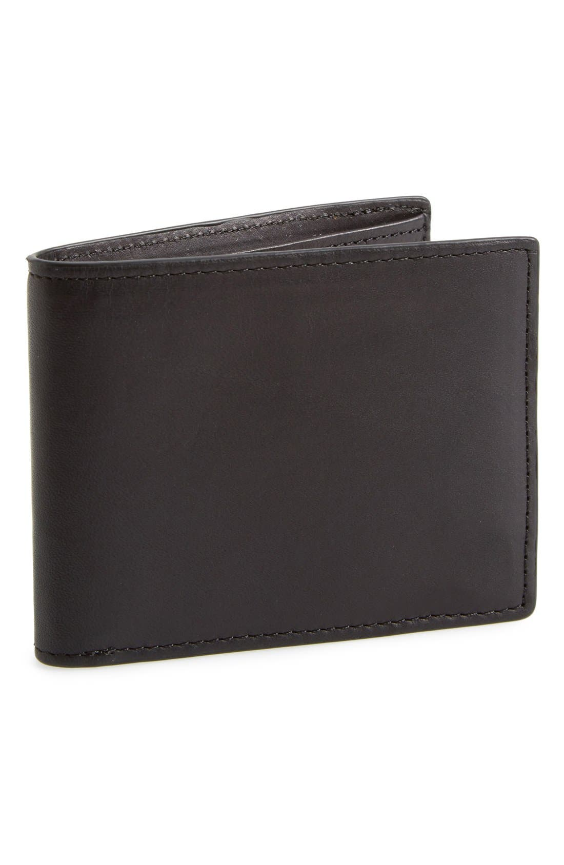 Hampshire Leather Bifold Wallet,                             Main thumbnail 1, color,                             002