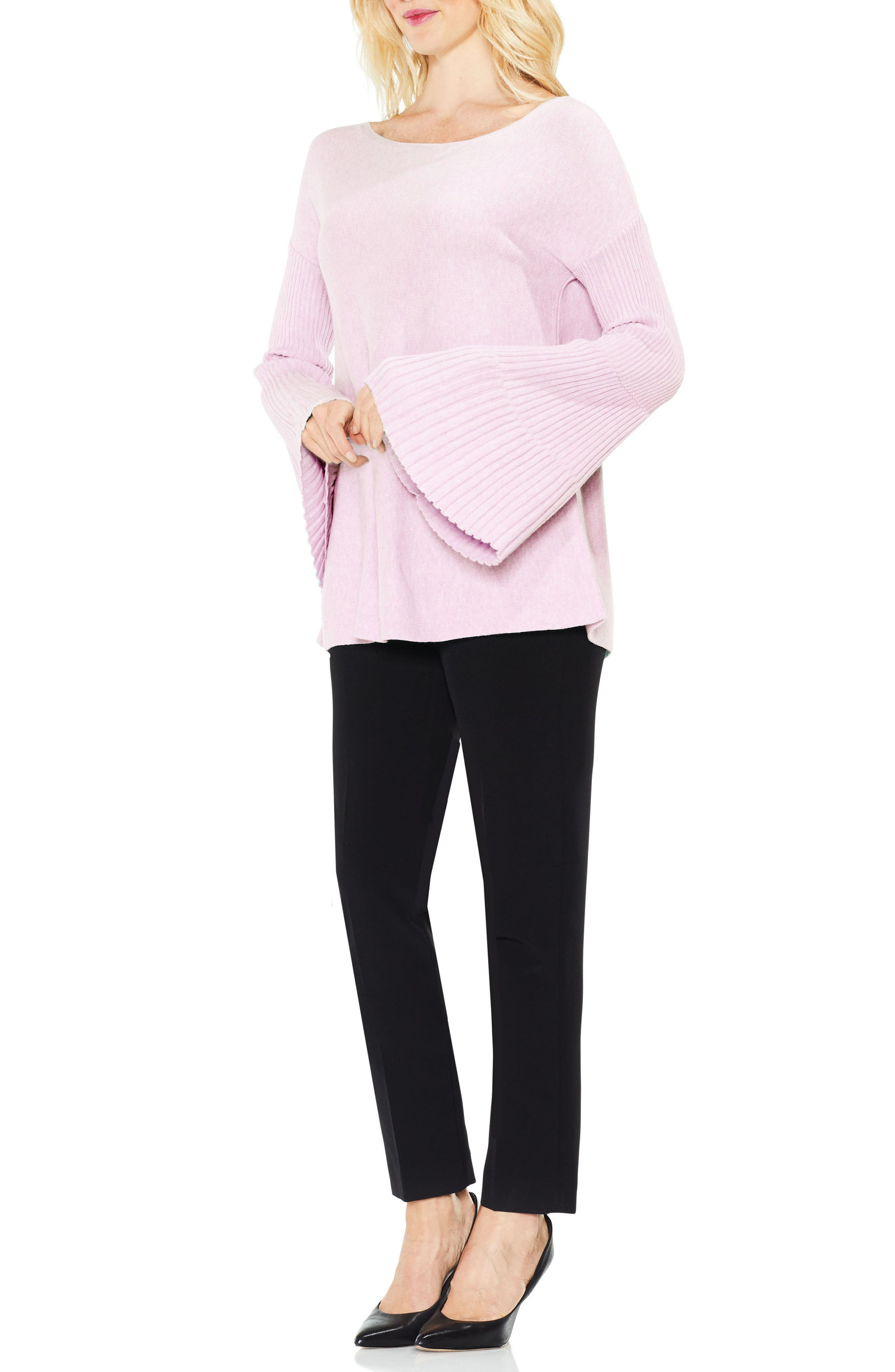 Bell Sleeve Ribbed Sweater,                             Alternate thumbnail 29, color,