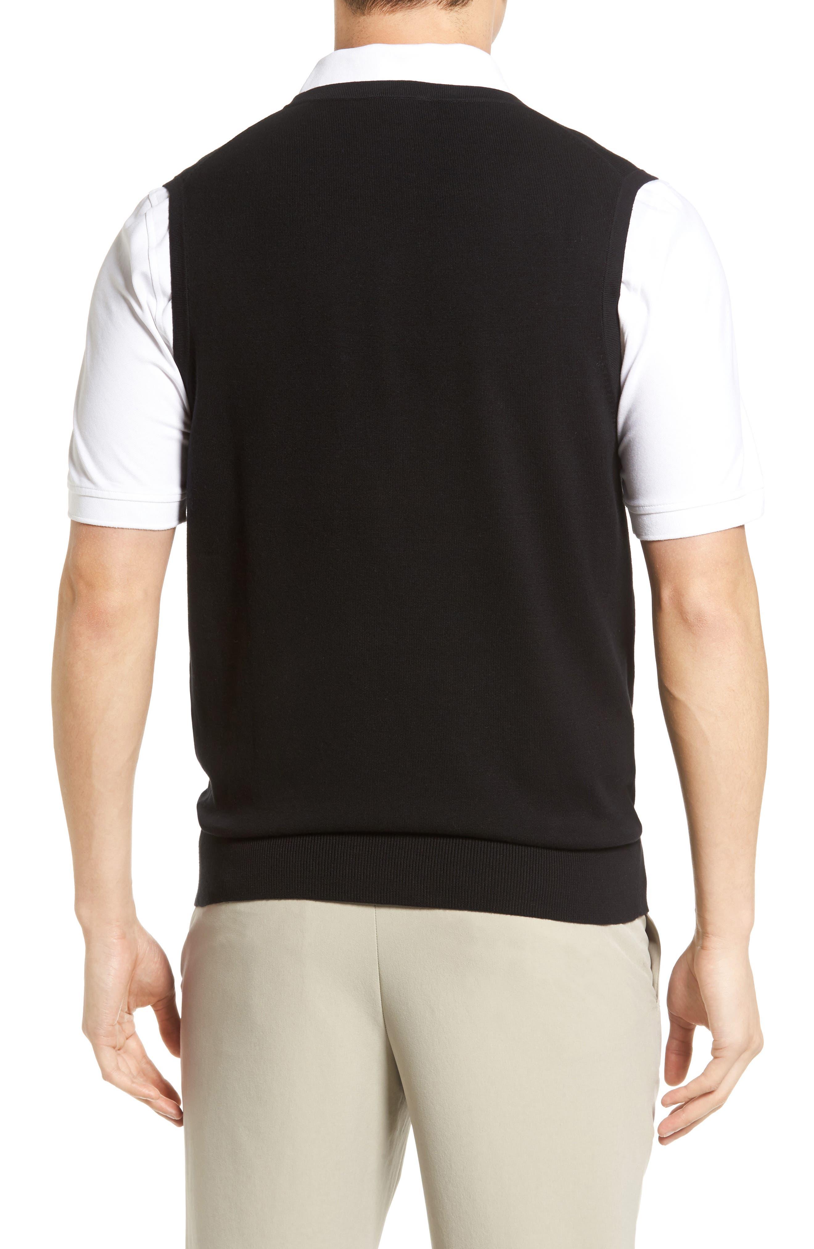 Lakemont V-Neck Sweater Vest,                             Alternate thumbnail 2, color,                             BLACK