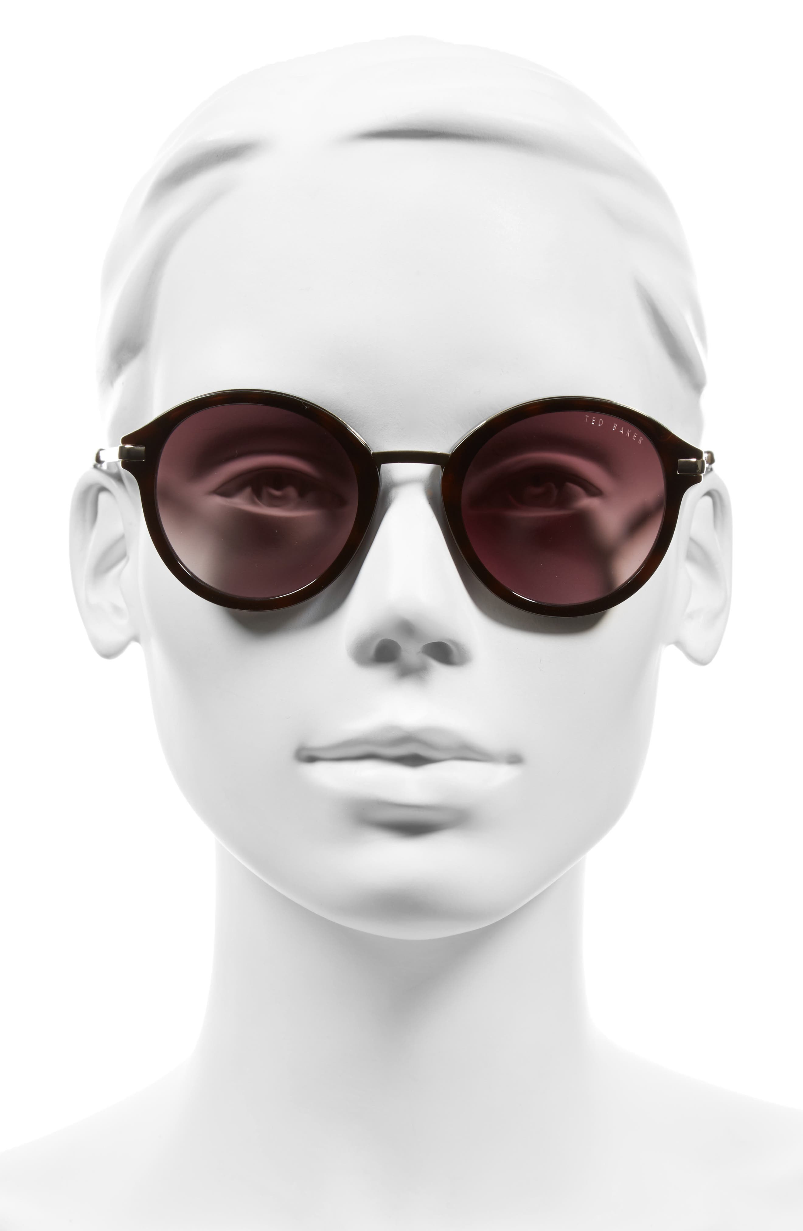49mm Round Sunglasses,                             Alternate thumbnail 6, color,