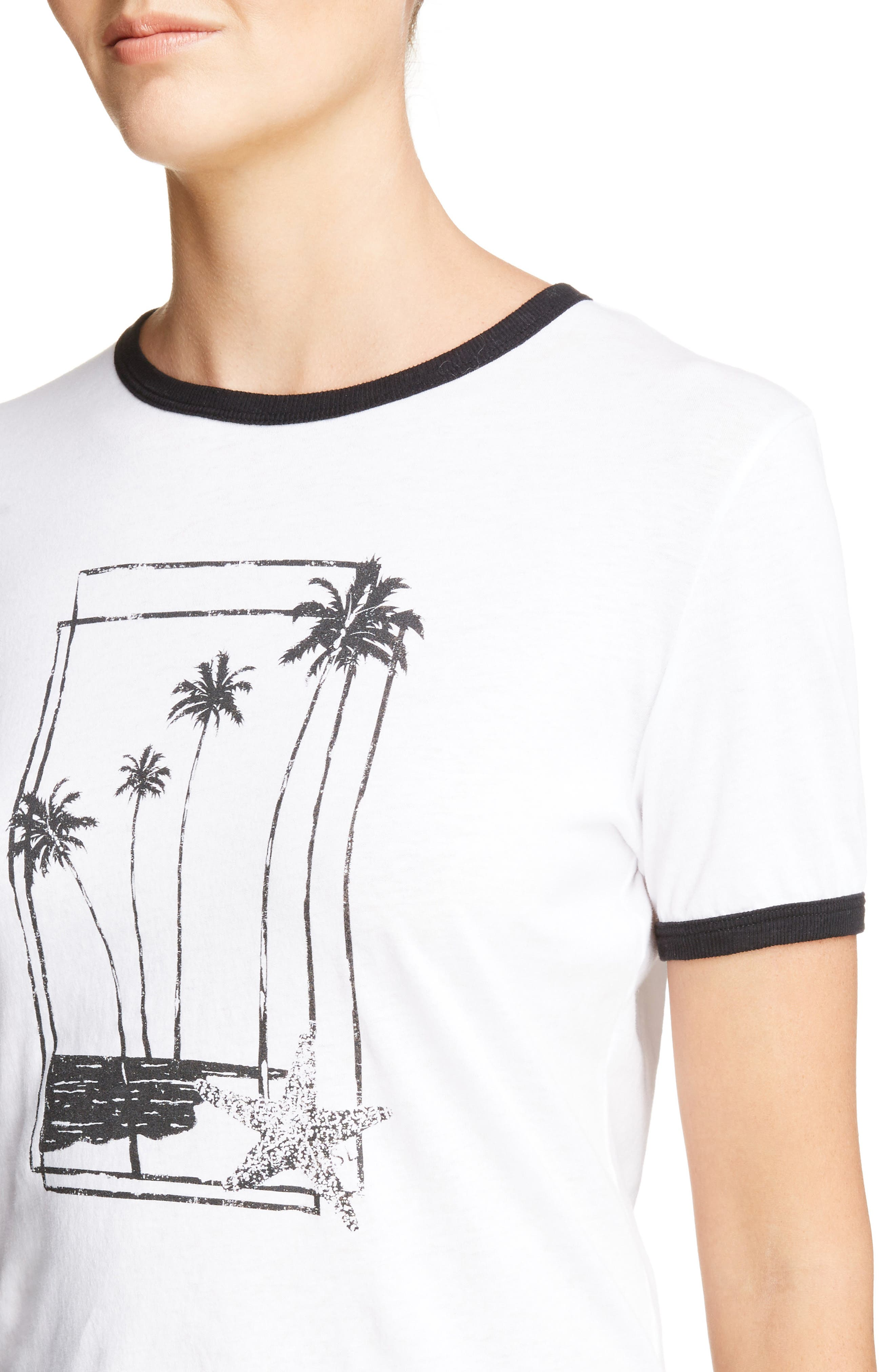 Palm Tree Graphic Tee,                             Alternate thumbnail 4, color,                             134
