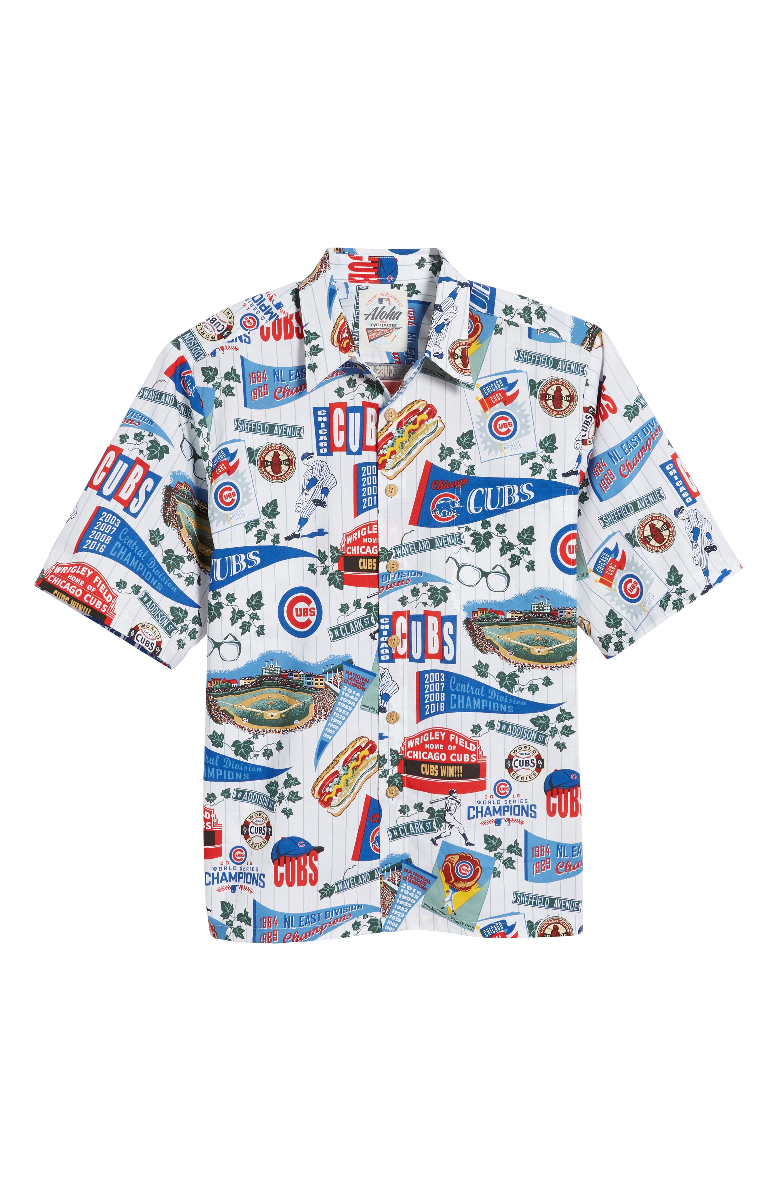 Chicago Cubs Classic Fit Camp Shirt,                             Alternate thumbnail 6, color,                             115