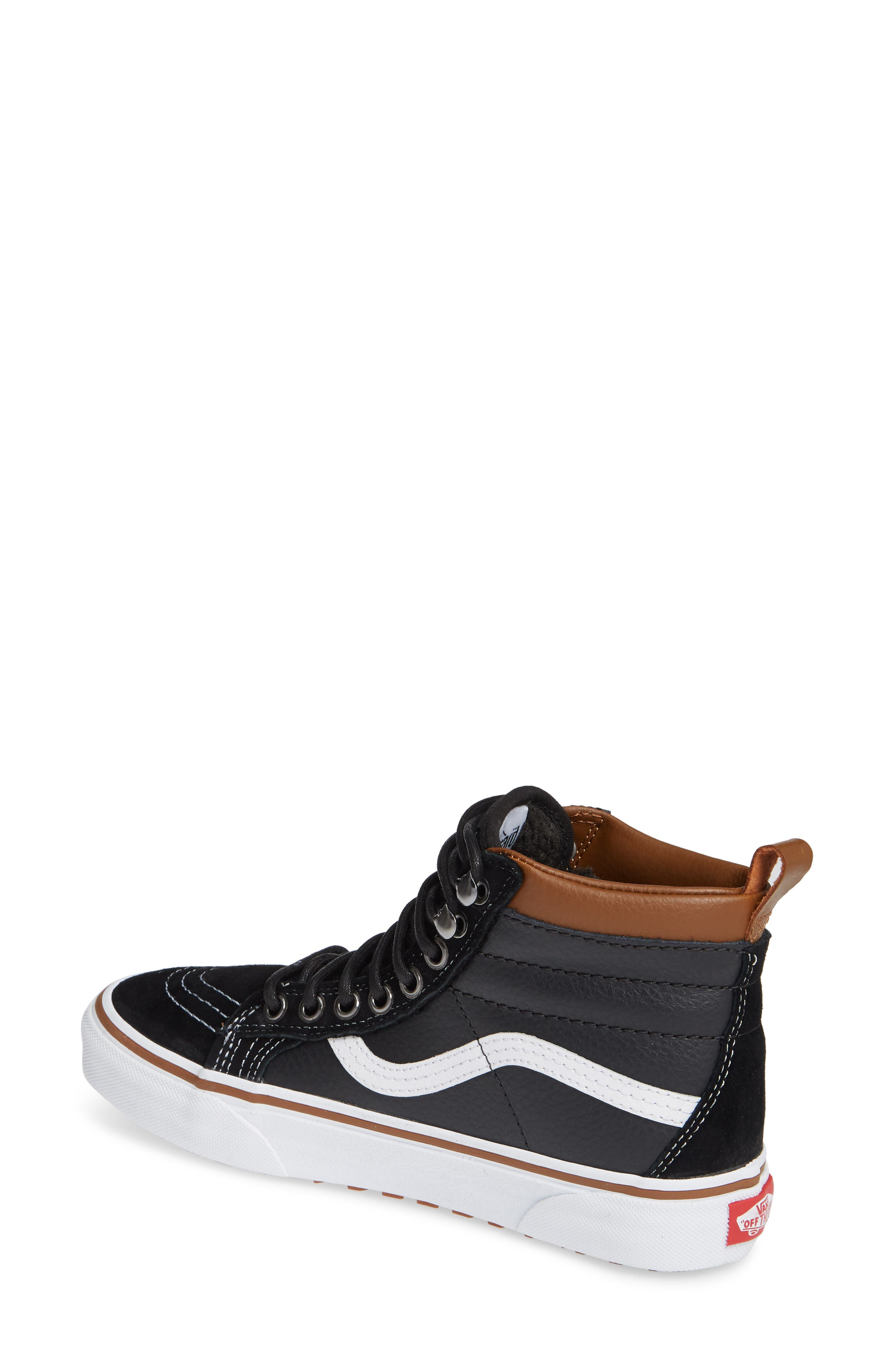 Sk-8 Hi MTE Sneaker,                             Alternate thumbnail 2, color,                             LEATHER/ BLACK/ TRUE WHITE