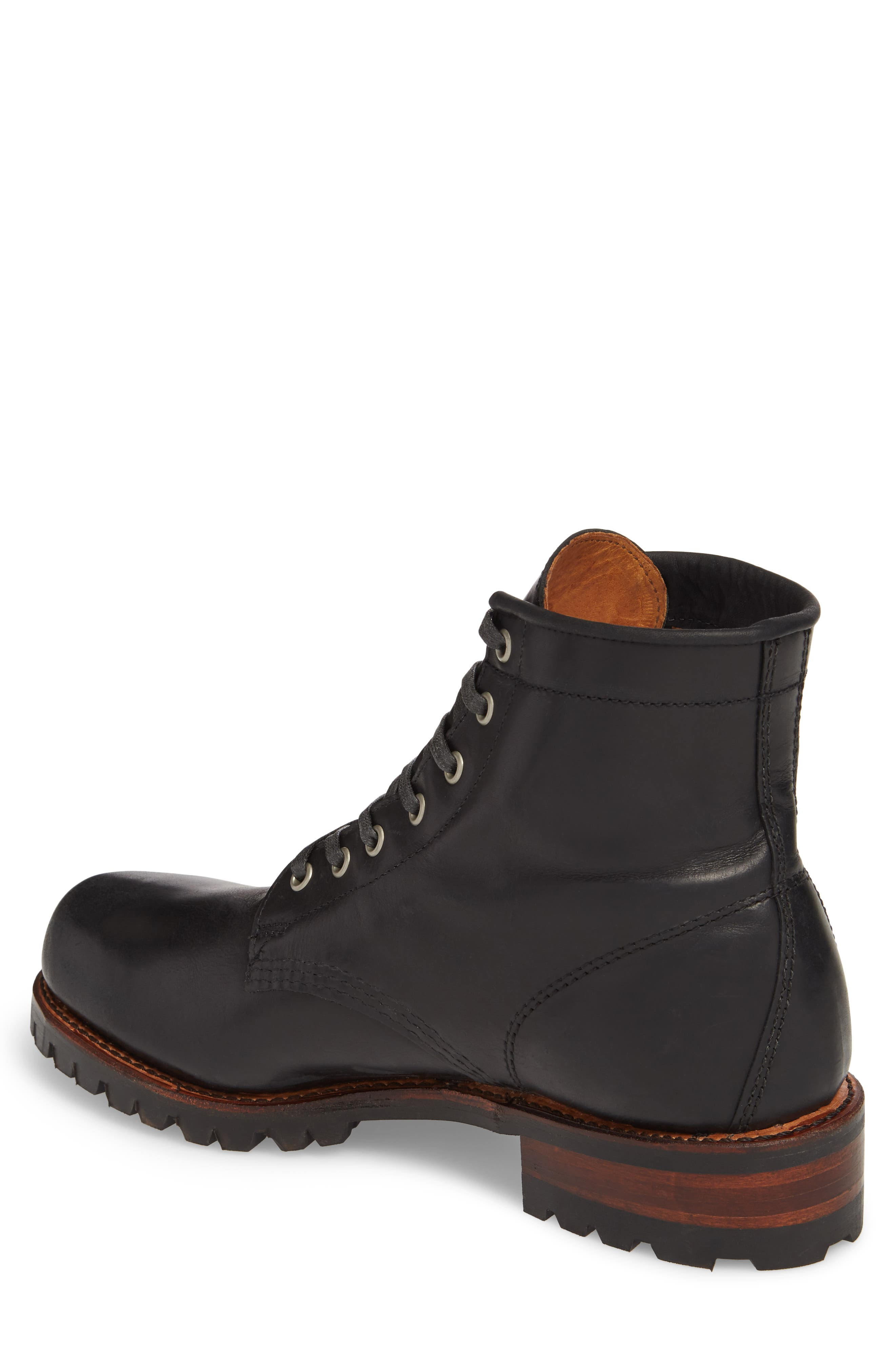 Addison Lace-Up Boot,                             Alternate thumbnail 2, color,                             001
