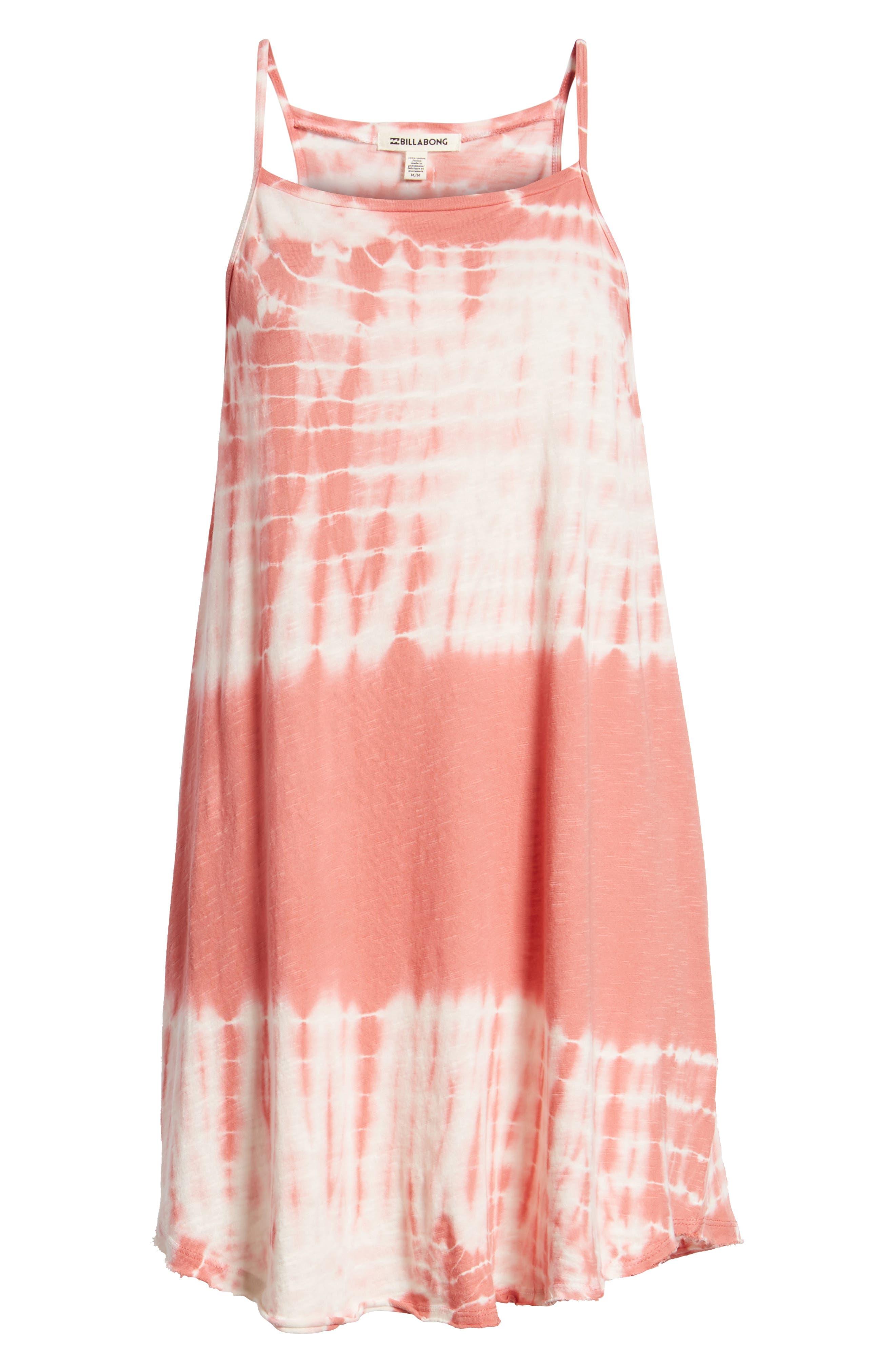 Turn Away Tie Dye Dress,                             Alternate thumbnail 8, color,                             SUNBURNT