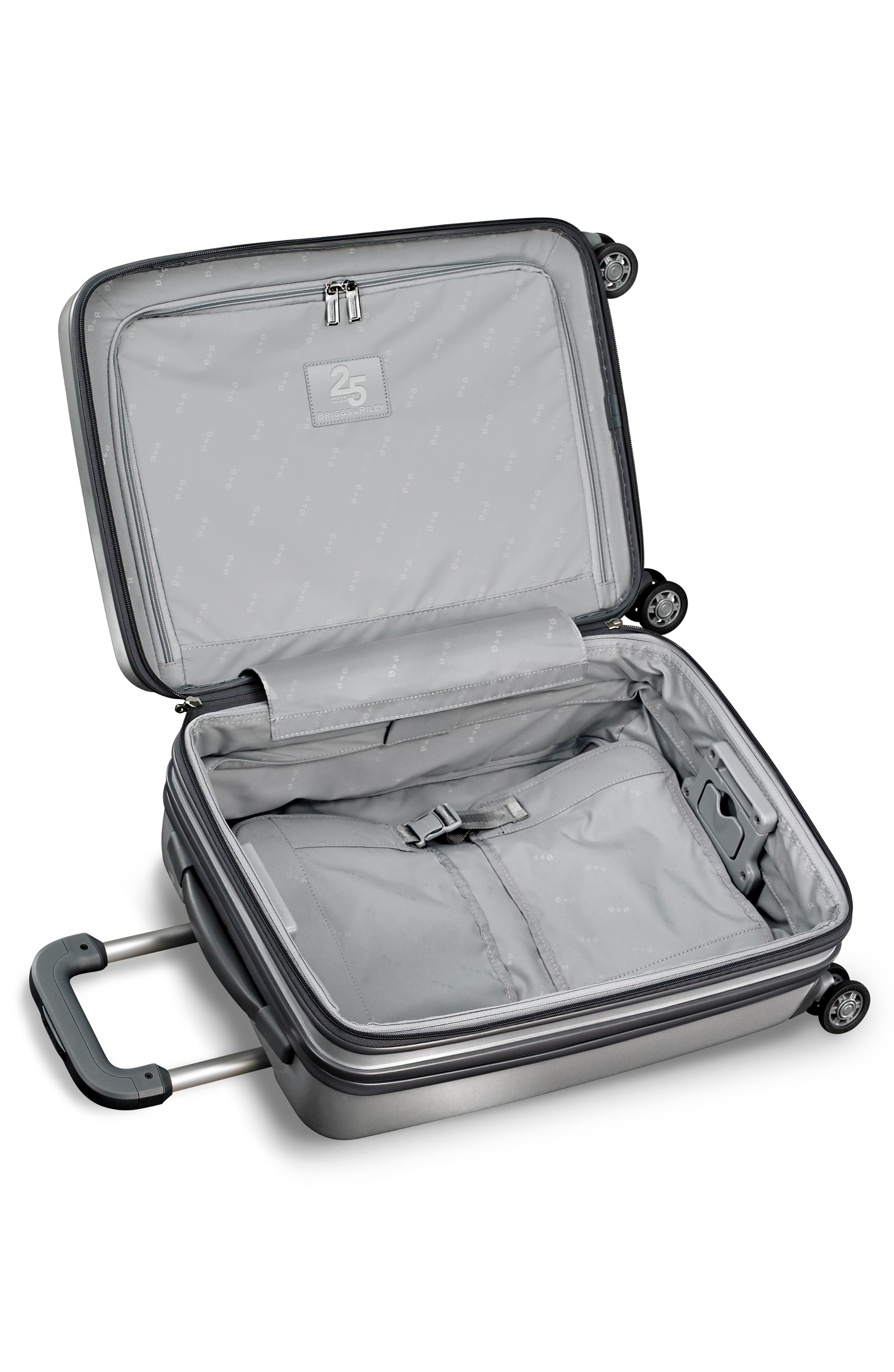 Sympatico Special Edition Expandable 21-Inch Spinner International Carry-On,                             Alternate thumbnail 7, color,                             SILVER