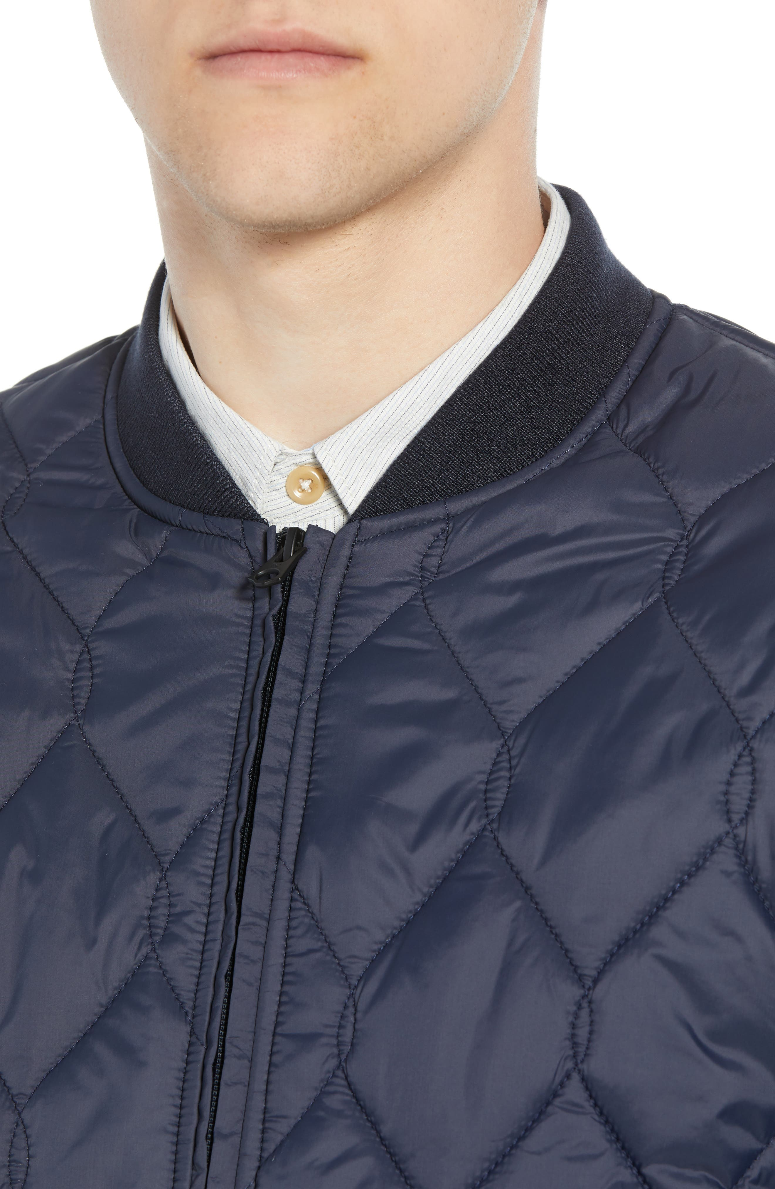 Quilted Jacket,                             Alternate thumbnail 4, color,                             UTILITY BLUE MIDNIGHT MOSS