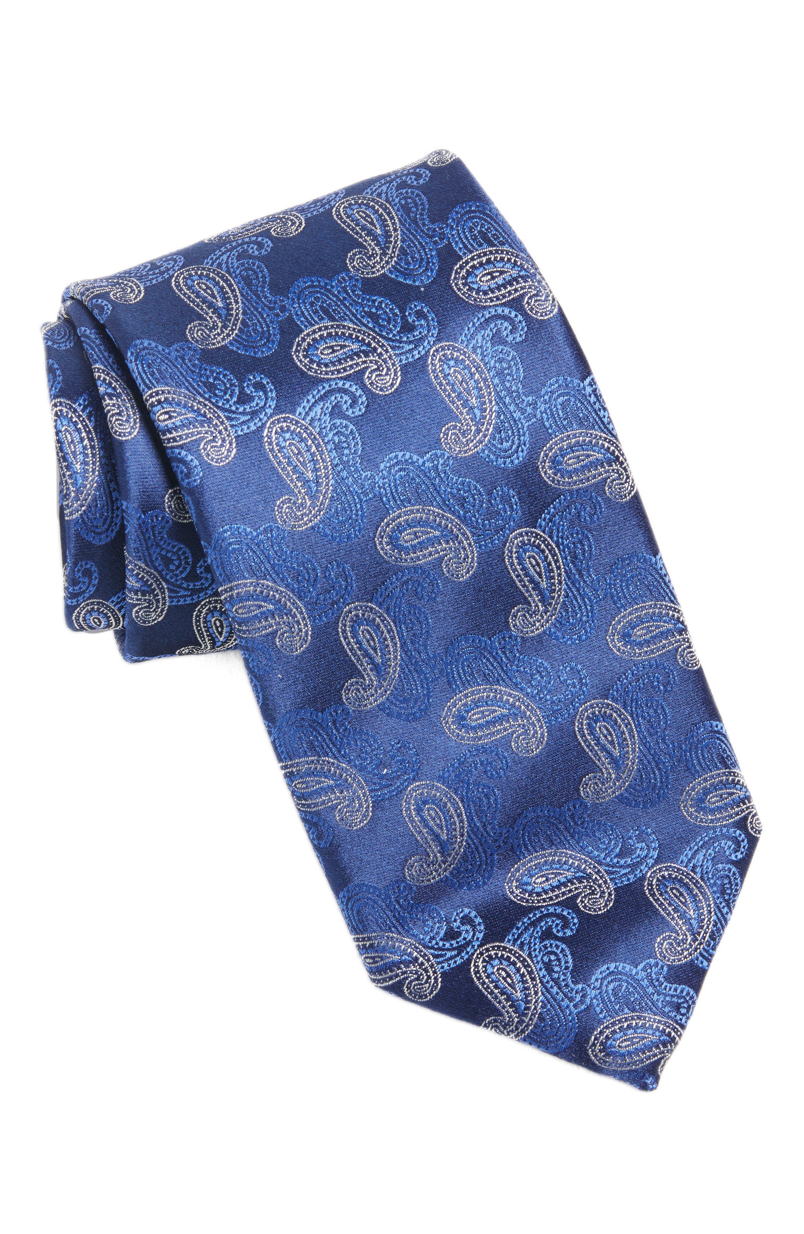 Paisley Silk Tie,                             Main thumbnail 2, color,