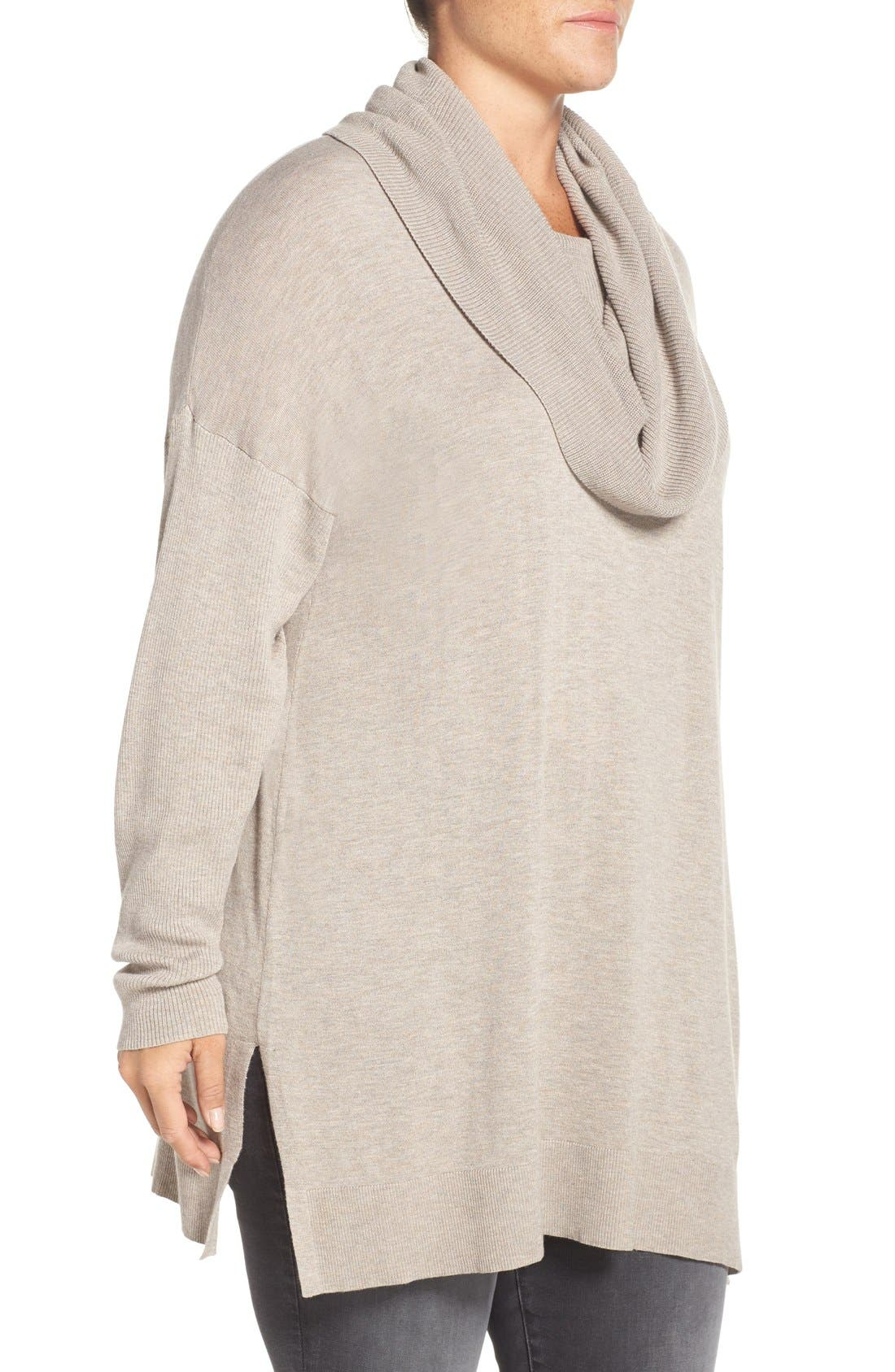 Cowl Neck Tunic Sweater,                             Alternate thumbnail 22, color,