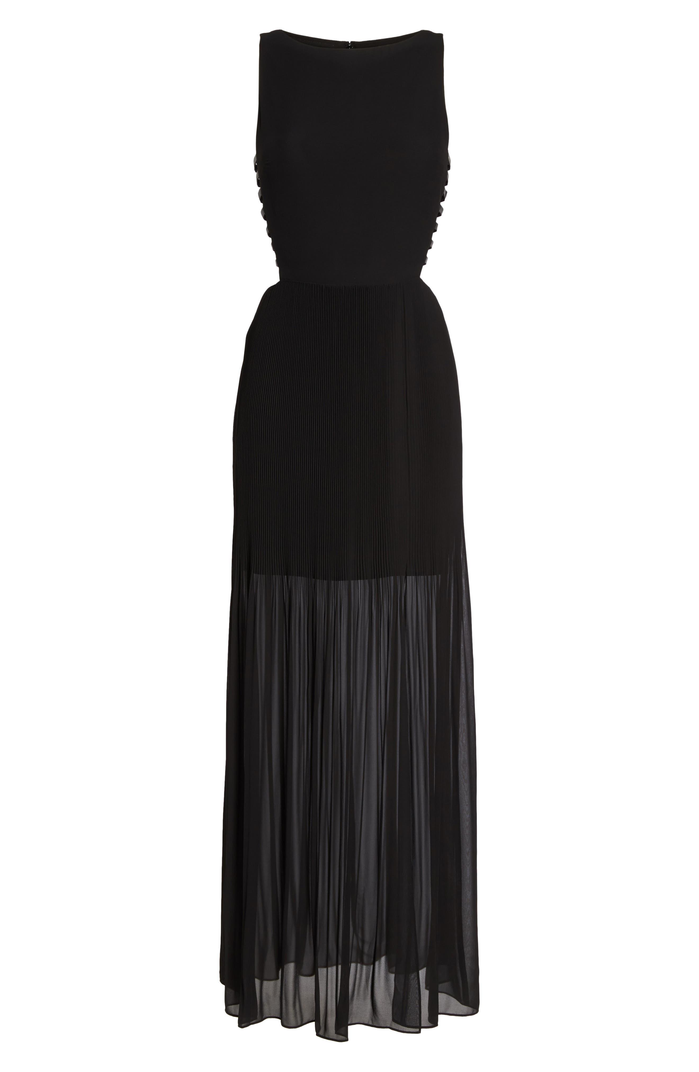 Sunset Blvd Maxi Dress,                             Alternate thumbnail 6, color,                             001