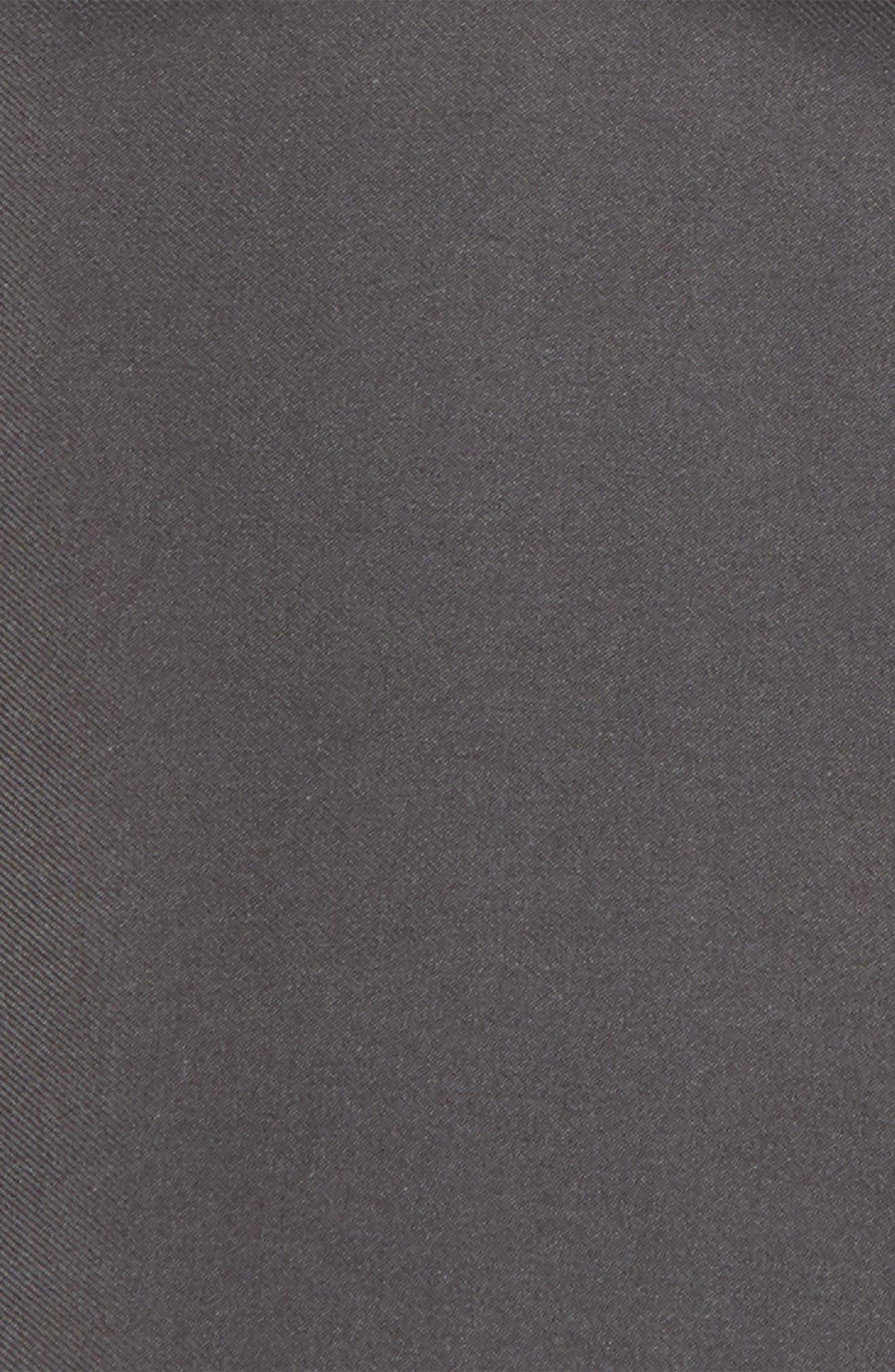 Silk Pocket Square,                             Alternate thumbnail 3, color,                             BLACK