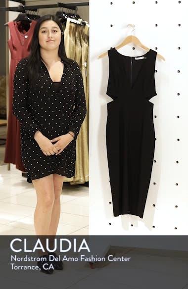 Riki Cutout Sheath Dress, sales video thumbnail