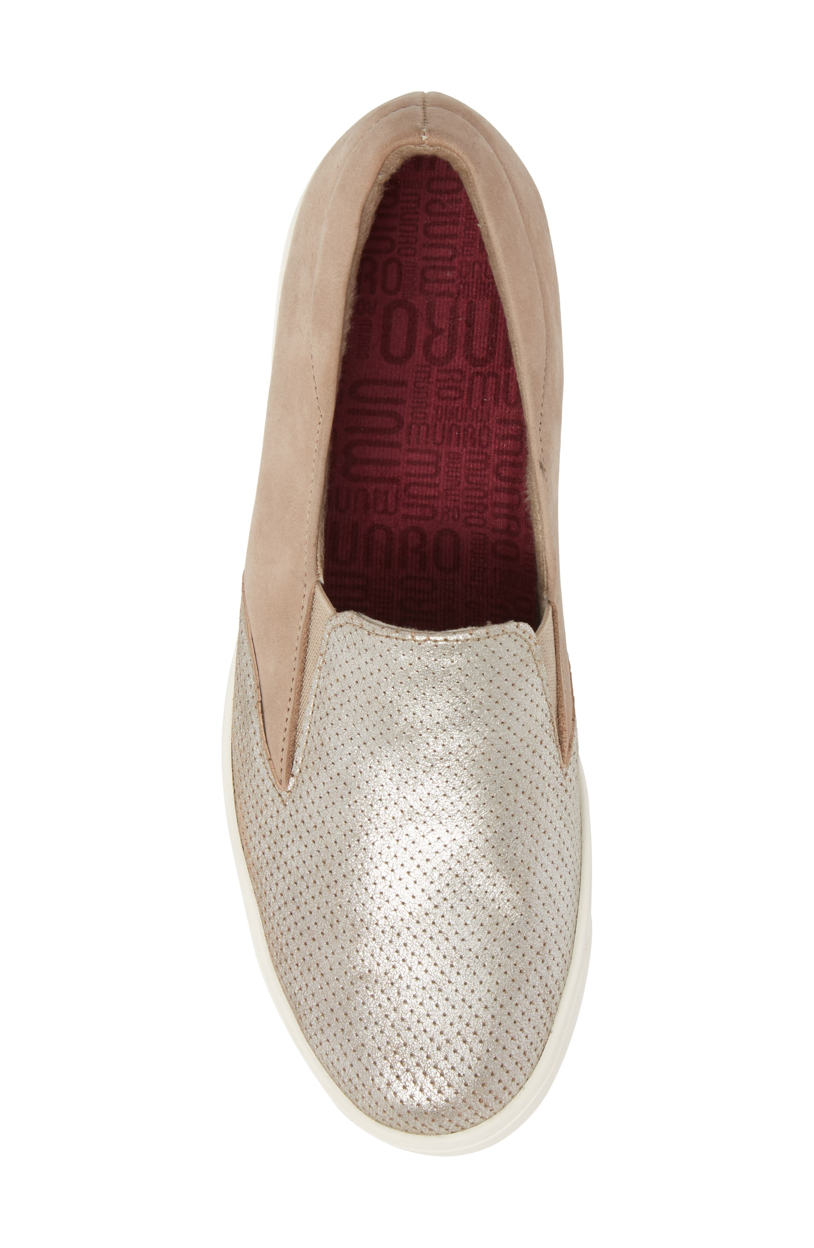 Lulu Slip-On Sneaker,                             Alternate thumbnail 5, color,                             BRUSHED SILVER NUBUCK