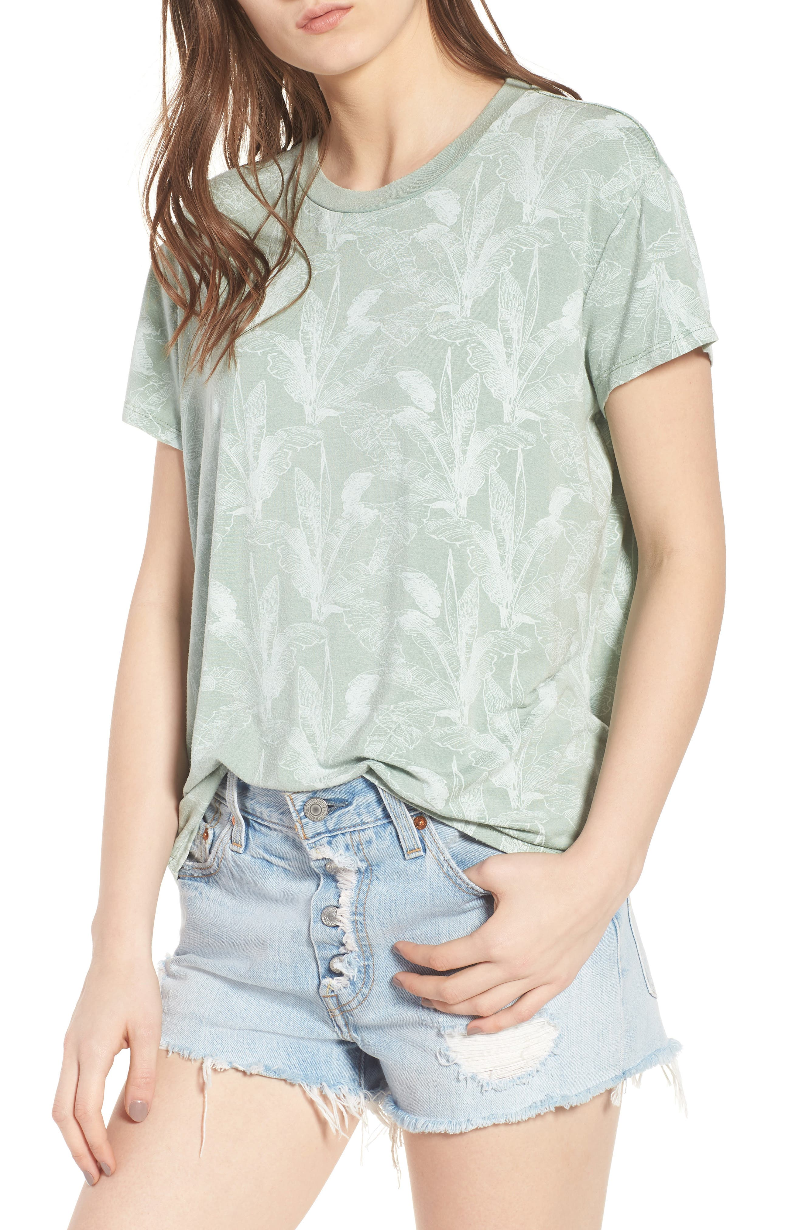 Suspension Print Stretch Modal Tee,                         Main,                         color, 382