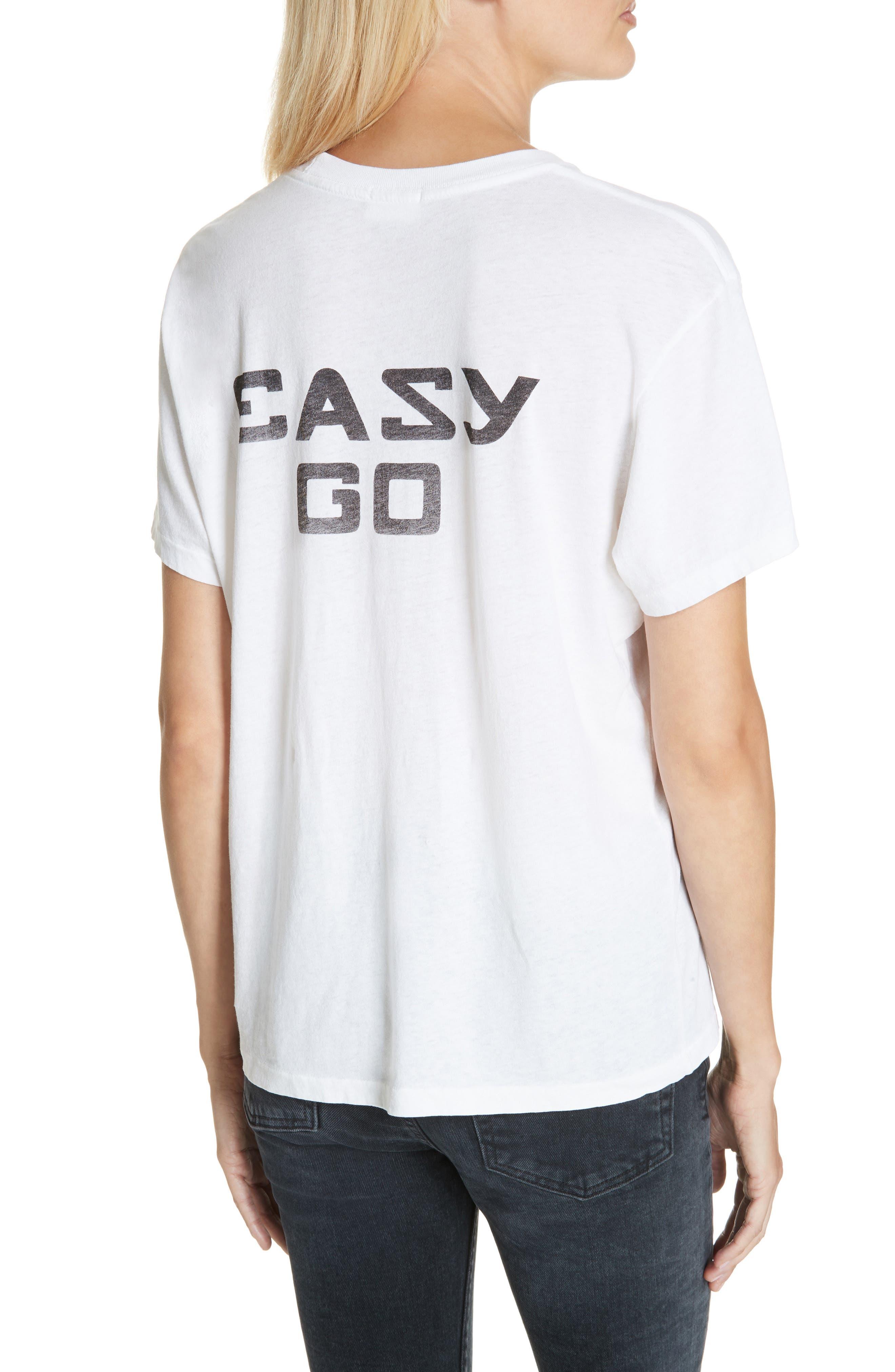 Easy Come Easy Go Girlfriend Tee,                             Alternate thumbnail 2, color,                             OPTIC WHITE