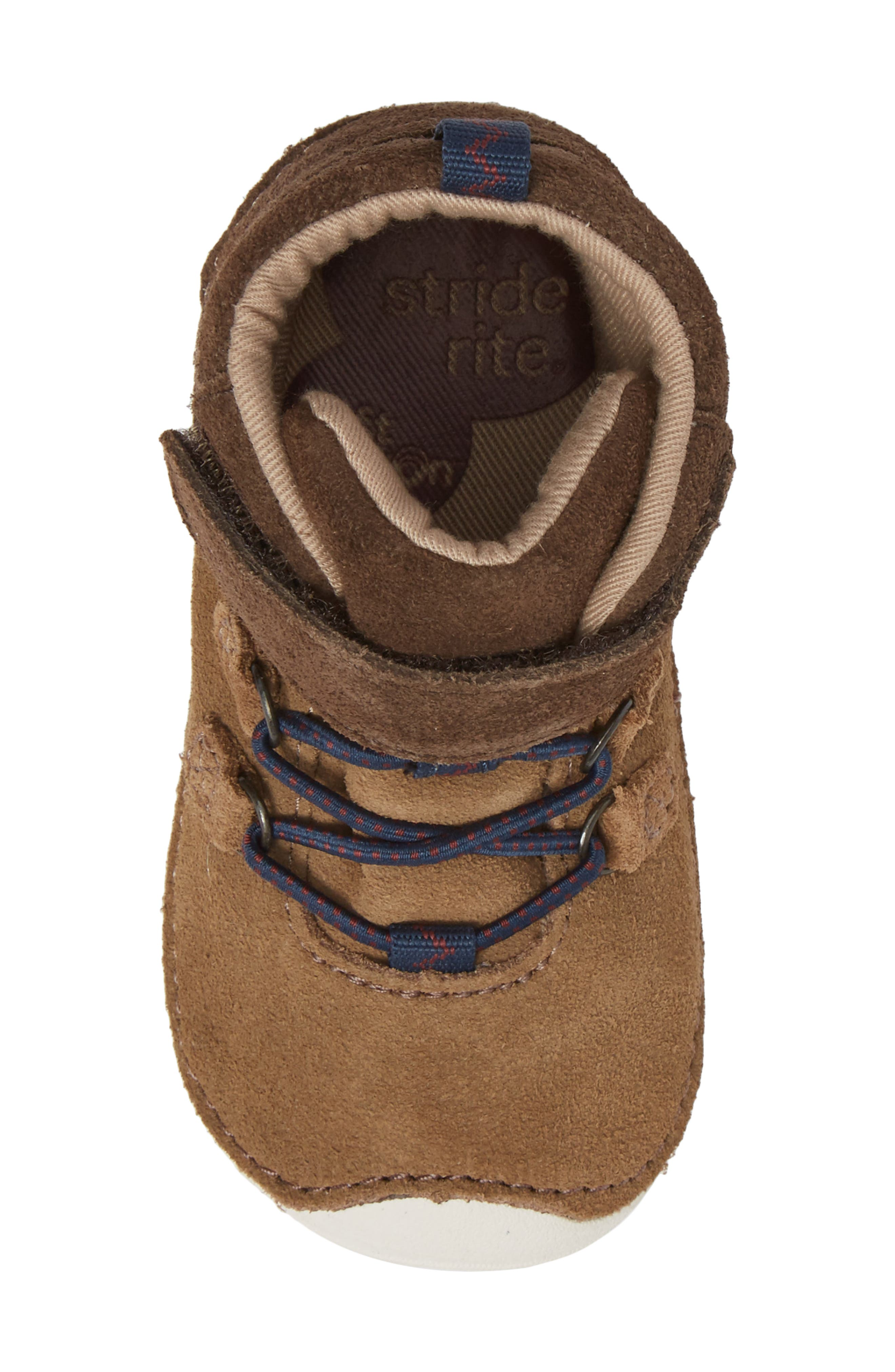Soft Motion<sup>™</sup> Oliver High Top Sneaker,                             Alternate thumbnail 5, color,                             BROWN SUEDE