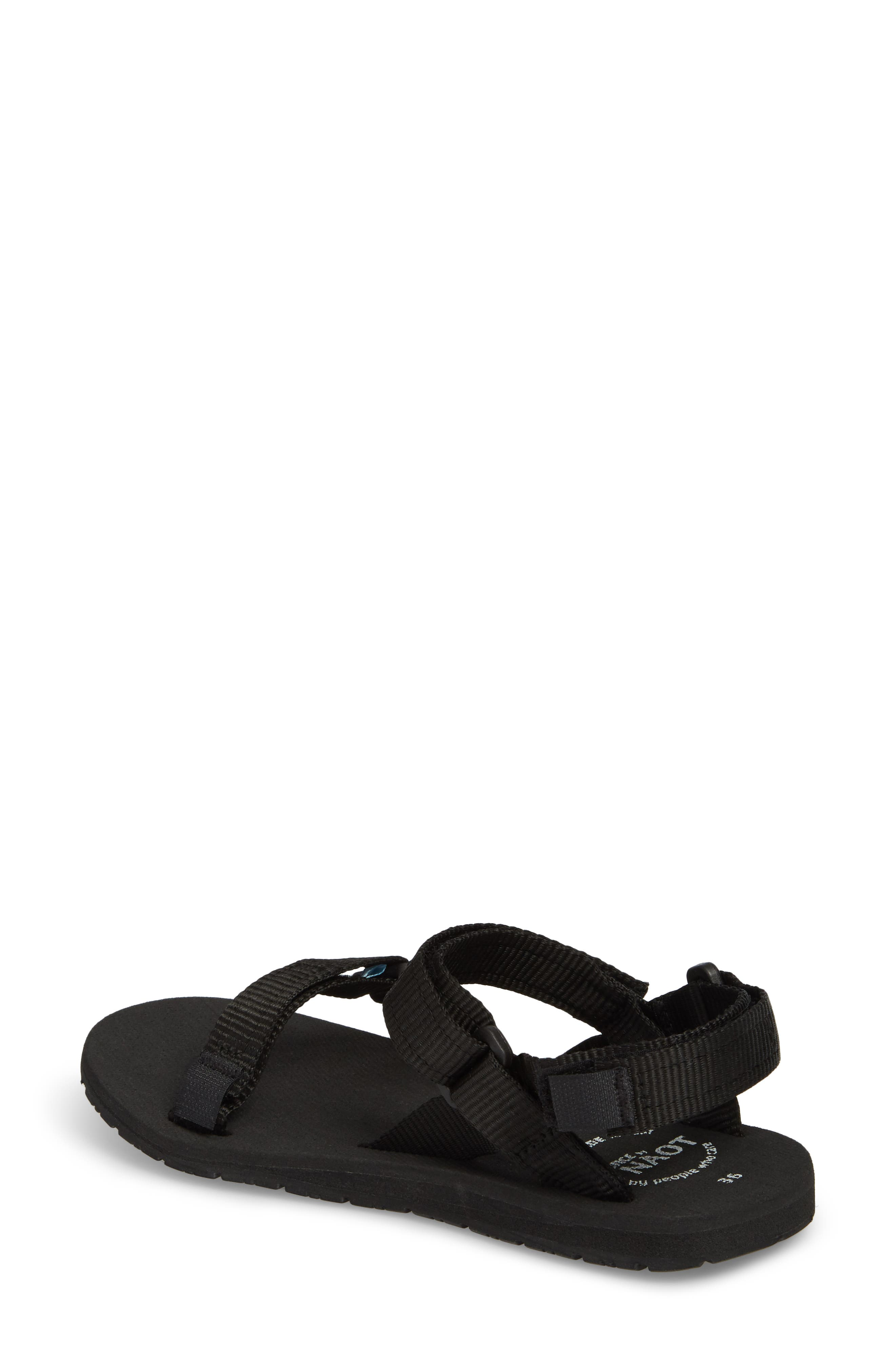 Haven Waterproof Sandal,                             Alternate thumbnail 2, color,                             BLACK FABRIC