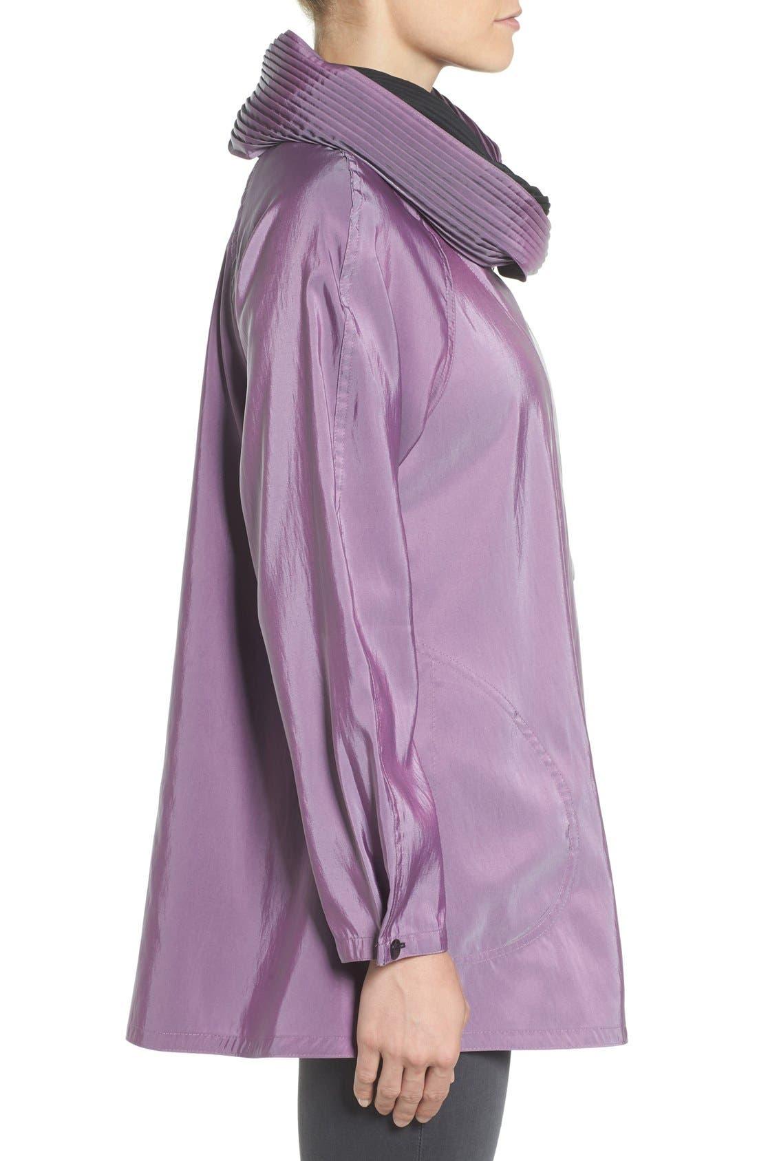 'Mini Donatella' Reversible Pleat Hood Packable Travel Coat,                             Alternate thumbnail 25, color,