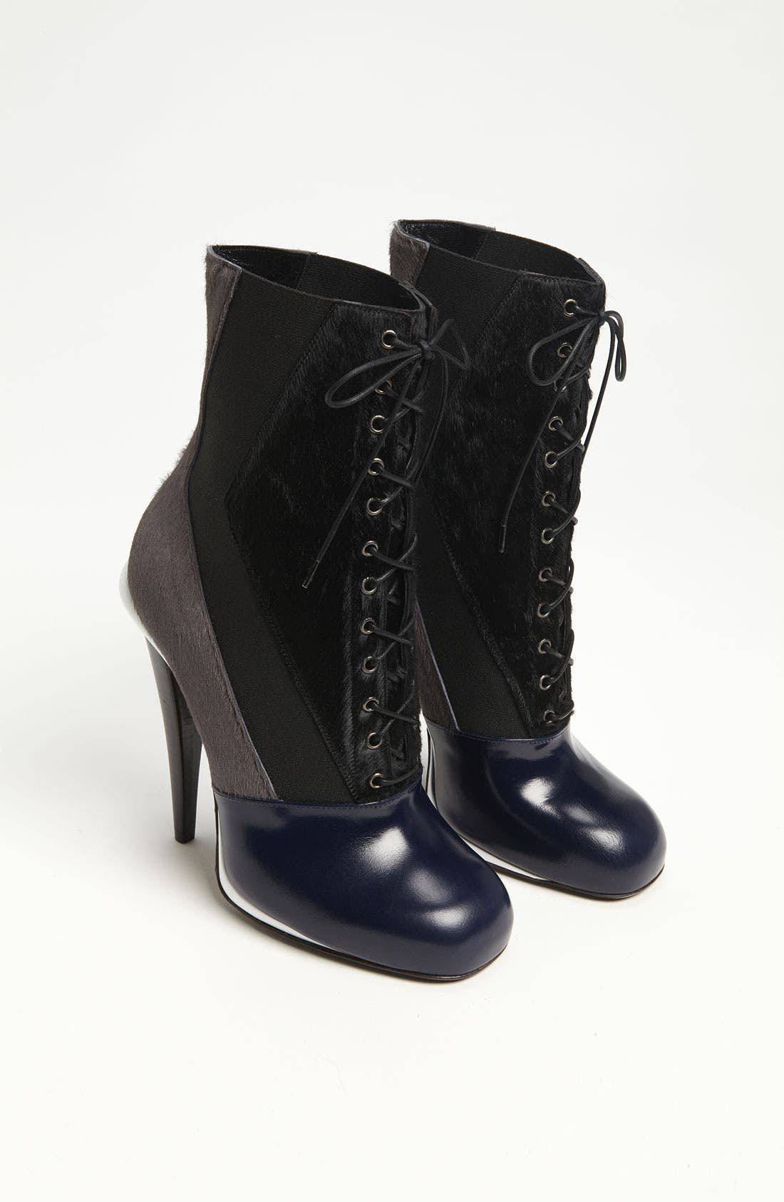 'Victorian' Lace-Up Boot,                             Alternate thumbnail 3, color,                             001