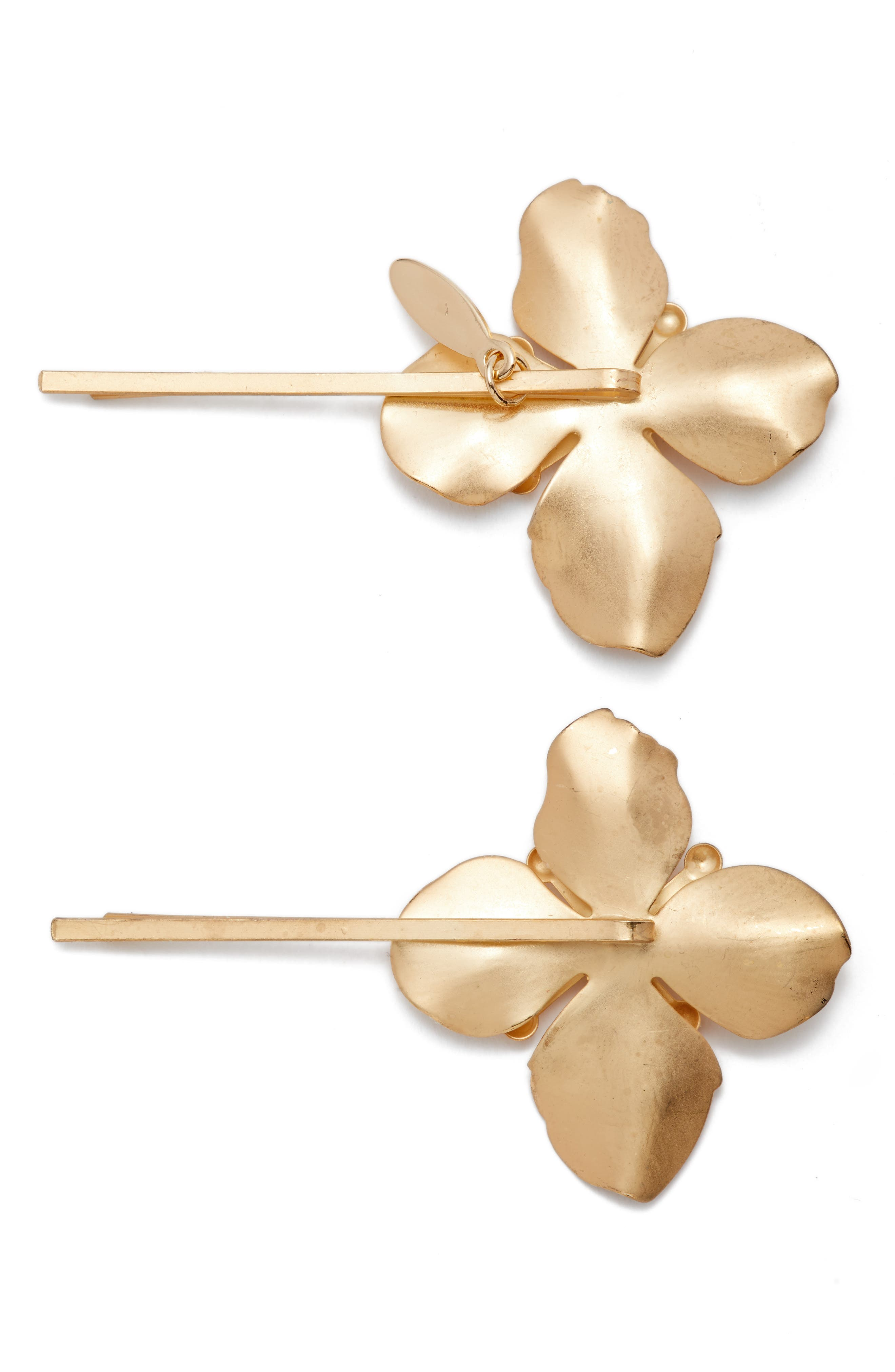 Set of 2 Blooming Bobby Pins,                             Alternate thumbnail 2, color,                             710