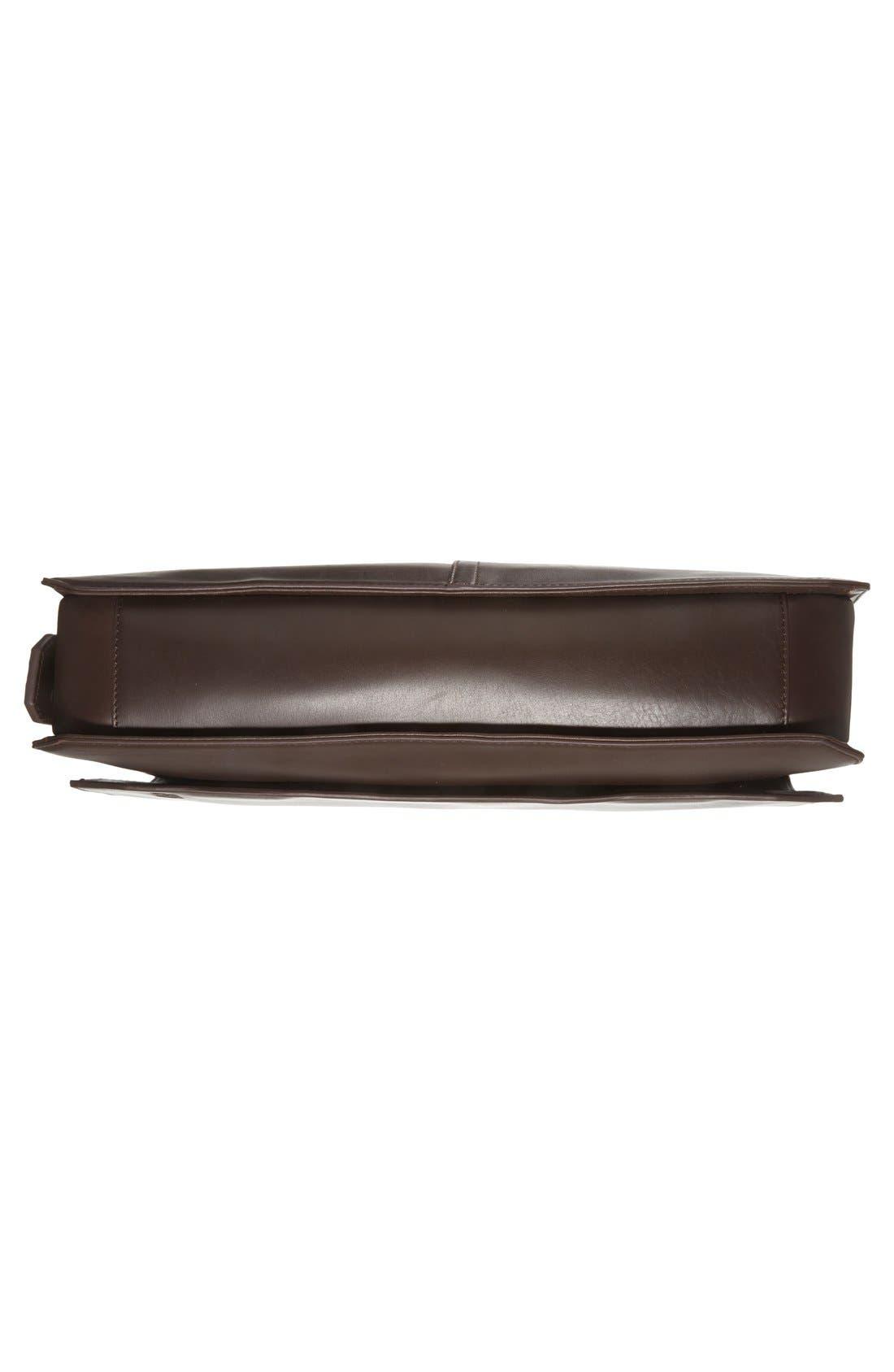 'Tolve' Leather Messenger Bag,                             Alternate thumbnail 6, color,                             210